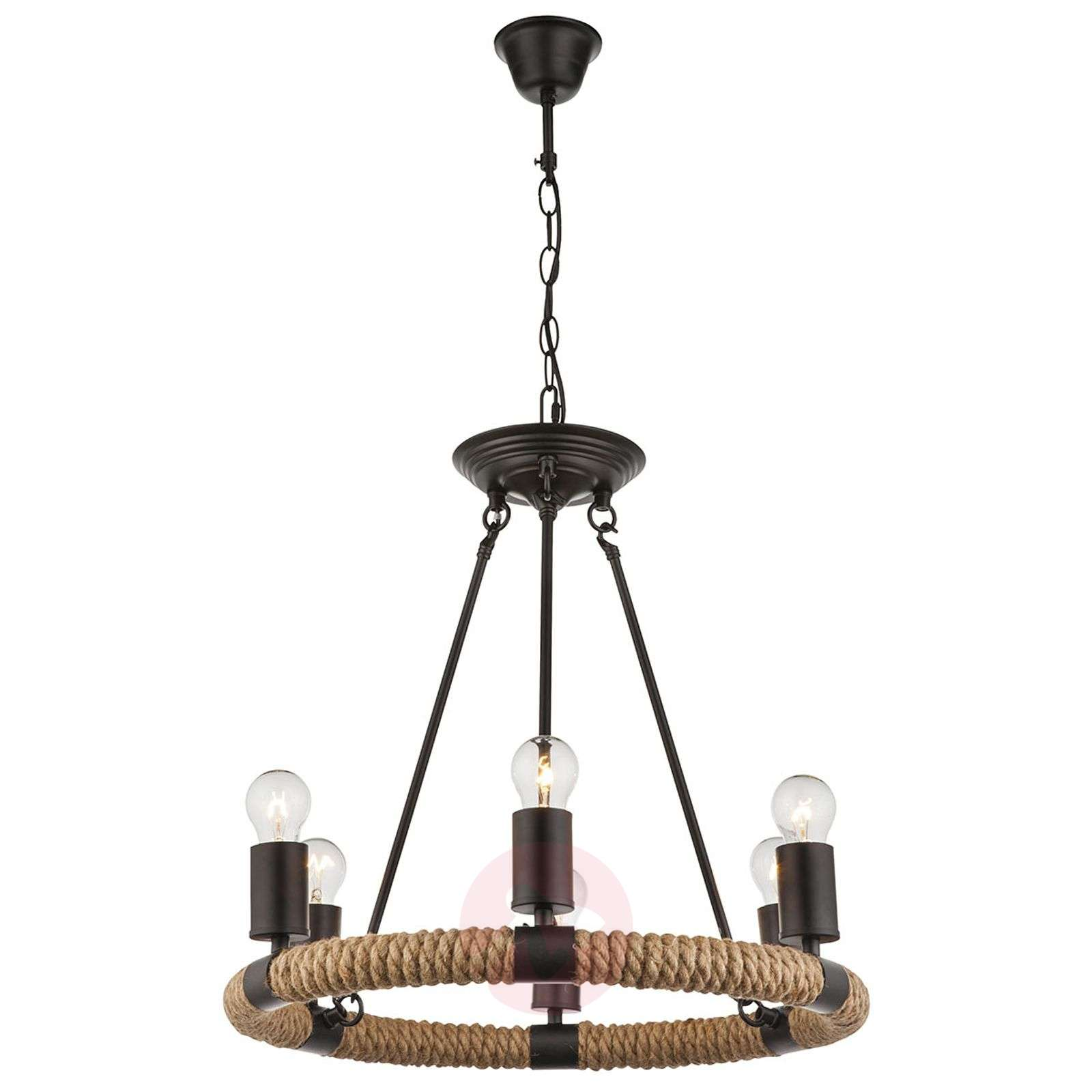 Pyöreä LED-riippuvalaisin Ulleu 6-lamppuinen-4015101-01