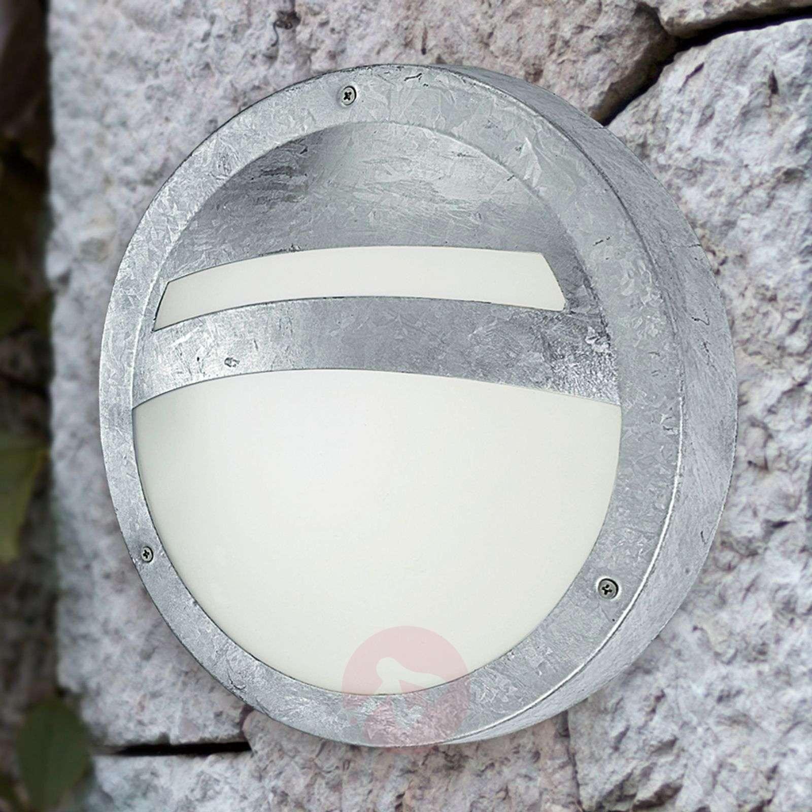 Pyöreä ulkoseinävalaisin SEVILLA, sinkitty teräs-3000369-03