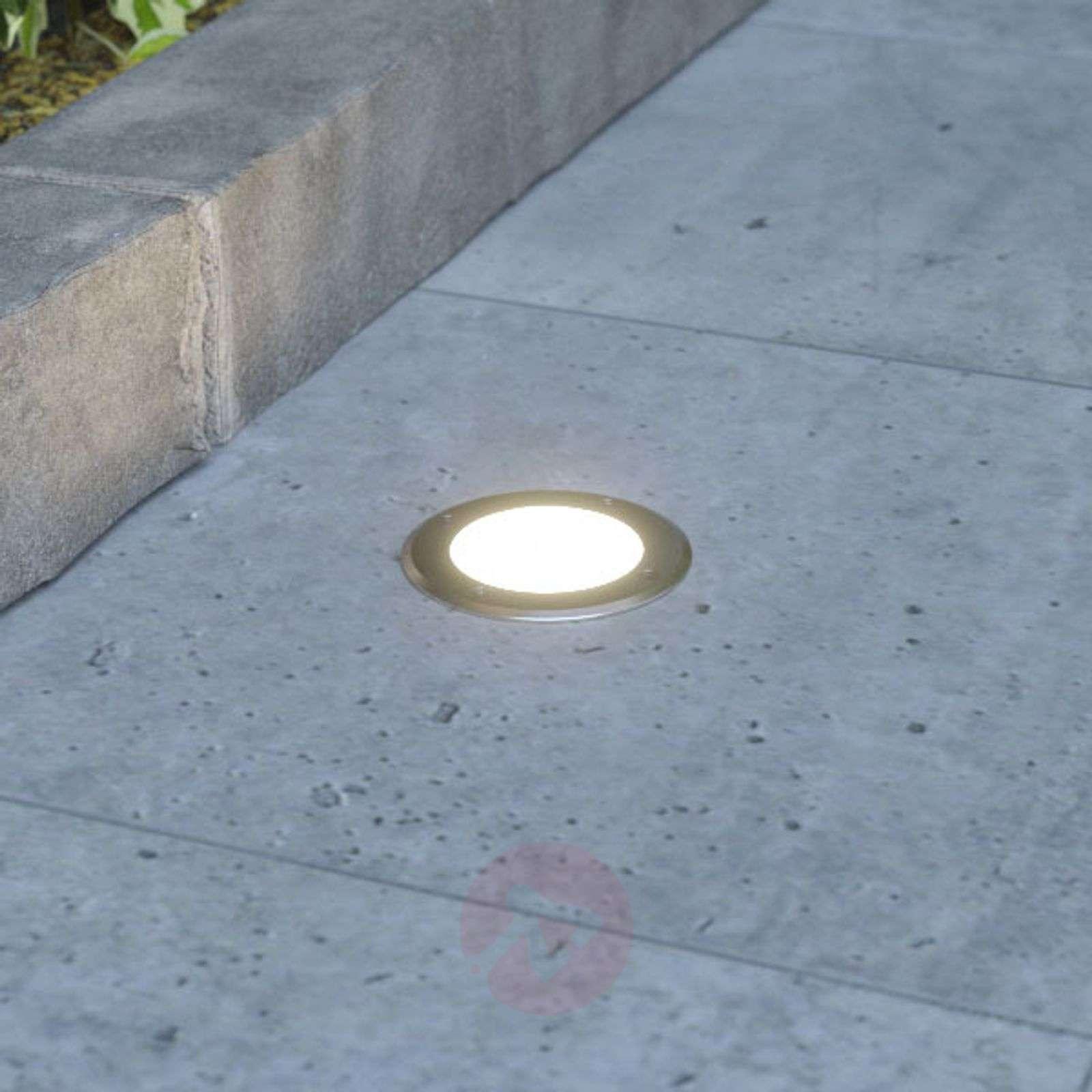 Pyöreä up. LED-maakohdevalaisin Doris ruost. teräs-9969050-015