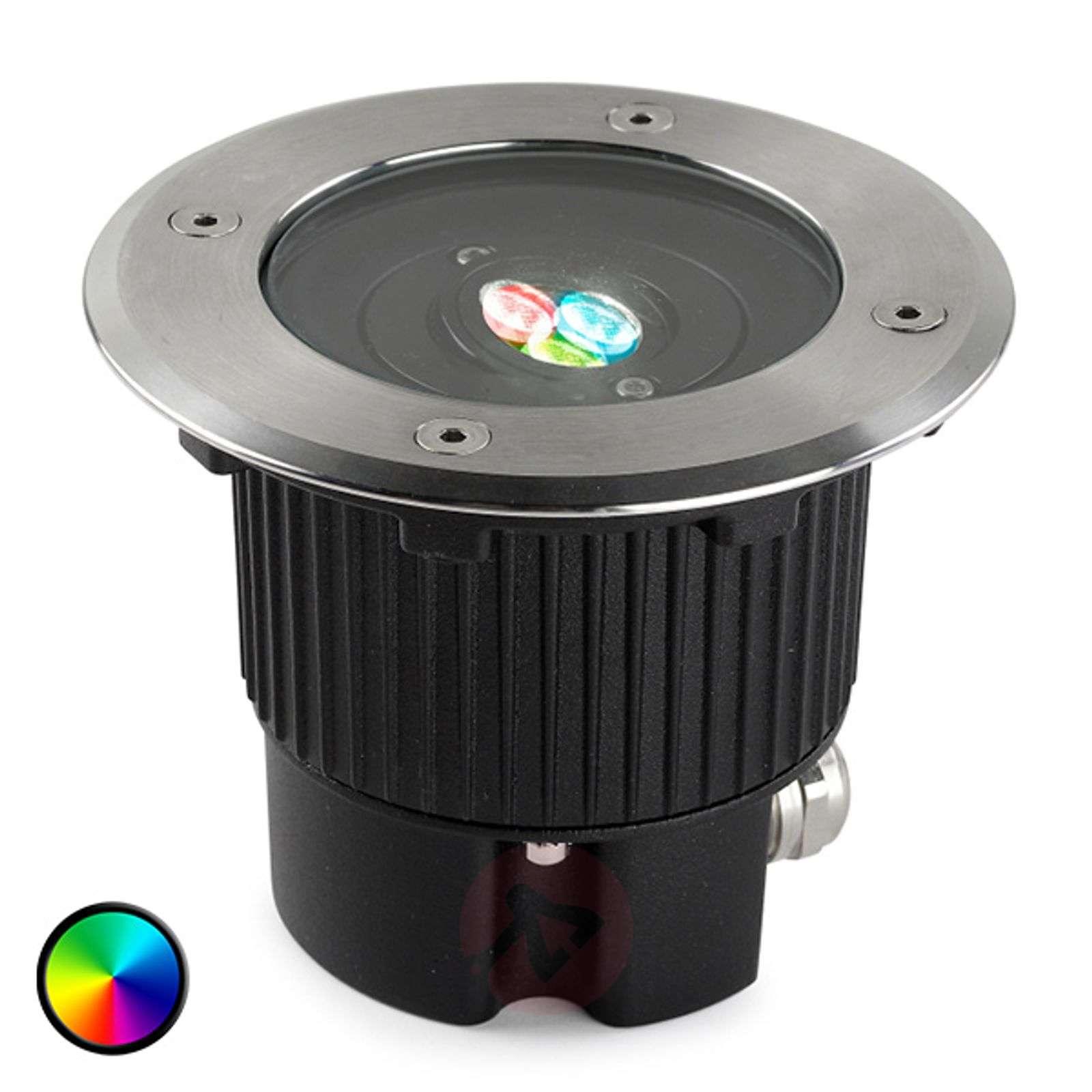 Pyöreä upotettava LED-maavalo GEA värinvaihdolla-6025602-01