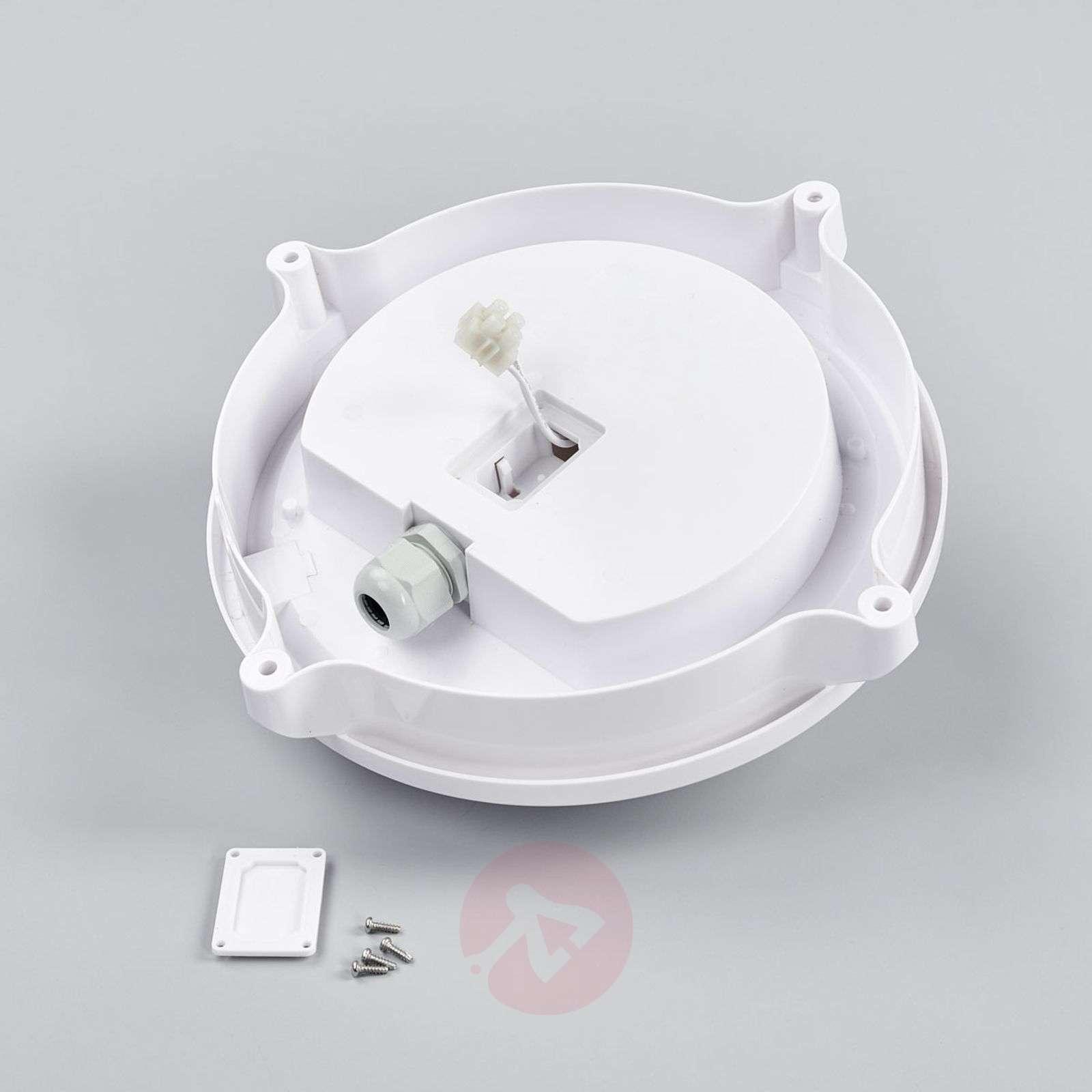 Pyöreä valkoinen LED-ulkovalaisin Manda-7005955-01