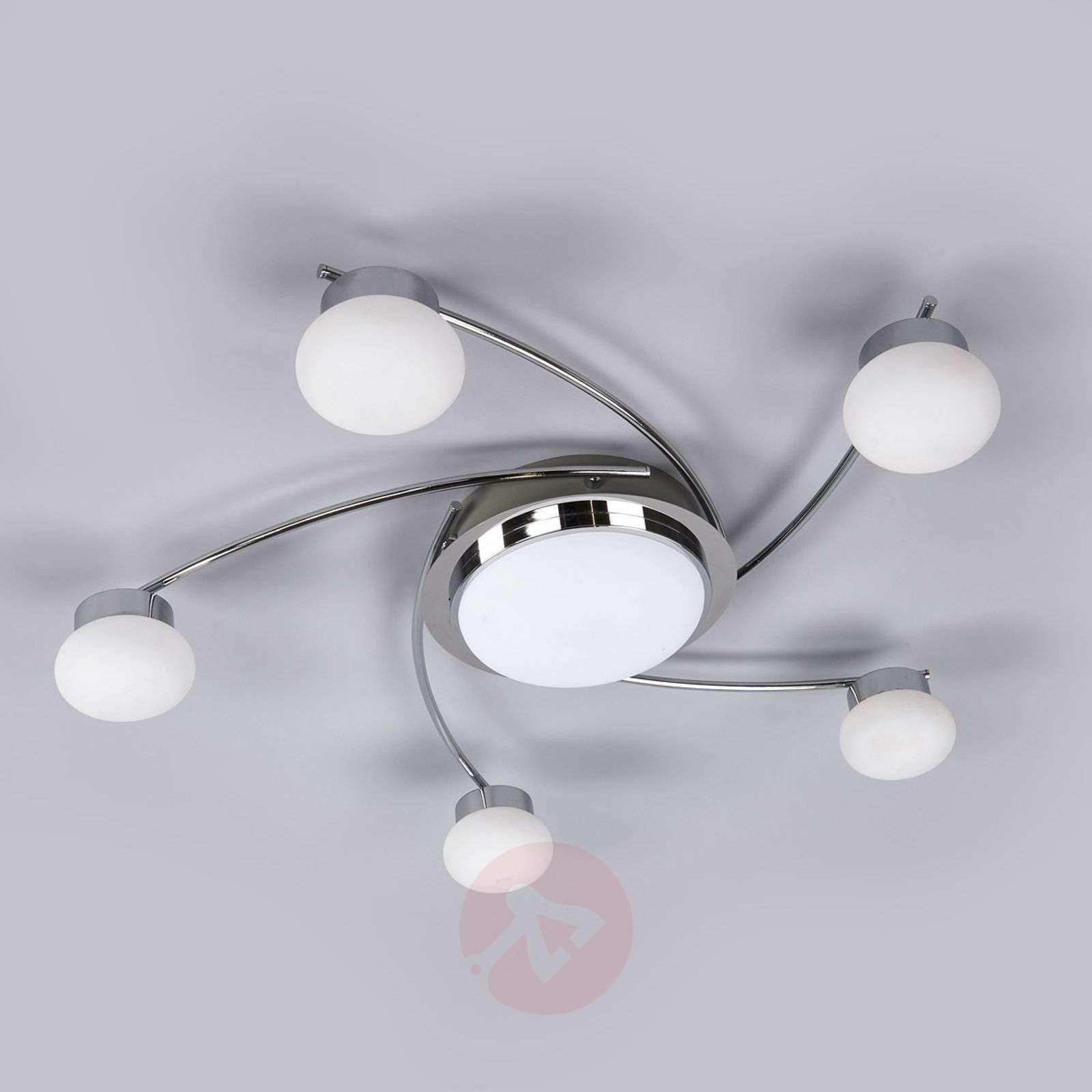 Pyöreä Vitus-LED-kattovalaisin, 6-osainen-9994100-02