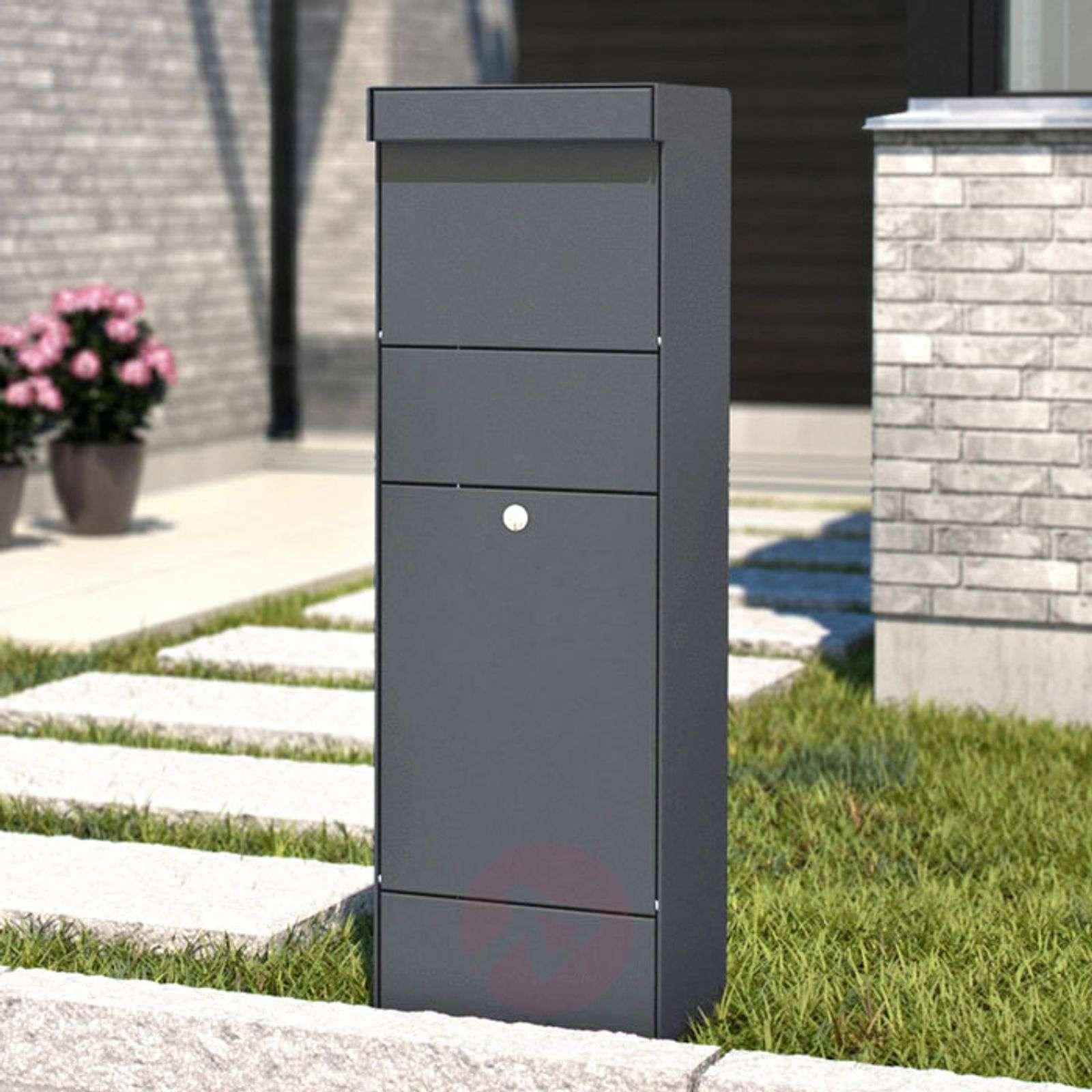 Pystypostilaatikko Parcel, antrasiitti-1045224-01