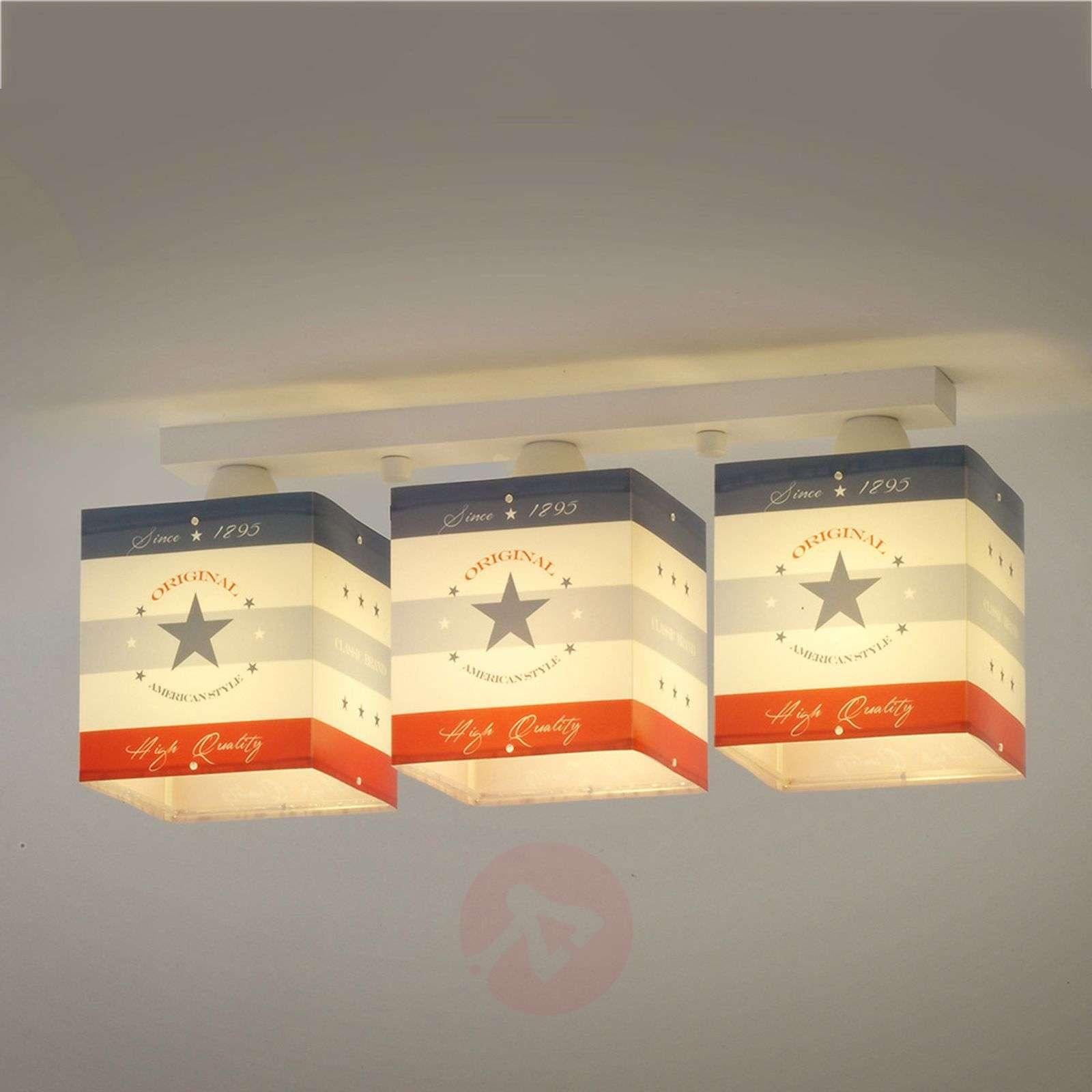Raidallinen kattovalaisin American Style 3 lamppua-2507330-01