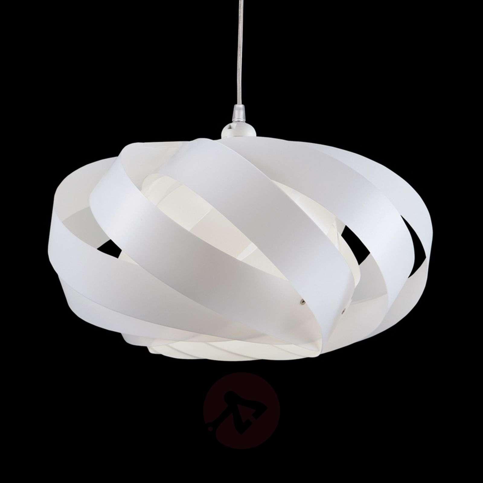 Raidallinen Mininest-riippuvalaisin, valkoinen-1056034-01