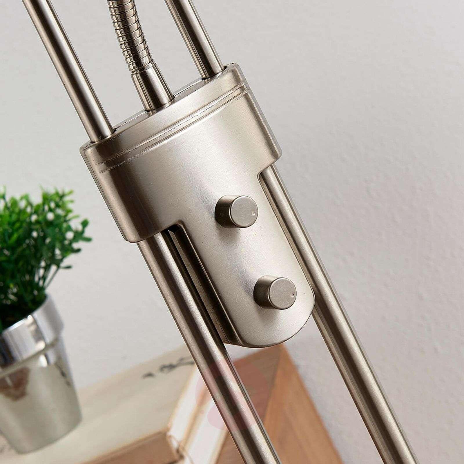Rengasmainen LED-lattiavalaisin Lana, lukuvalolla-9621135-02