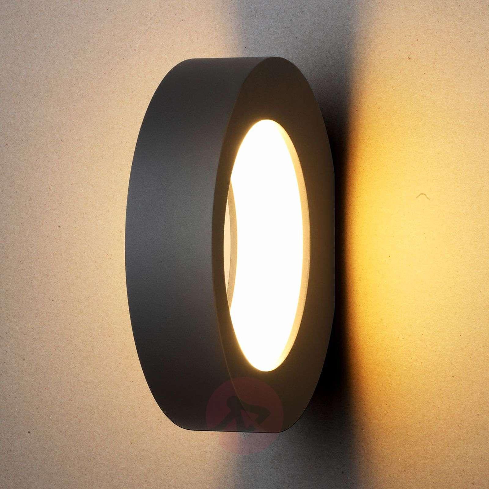 Renkaanmuotoinen LED-ulkoseinävalaisin Larika-9619101-02