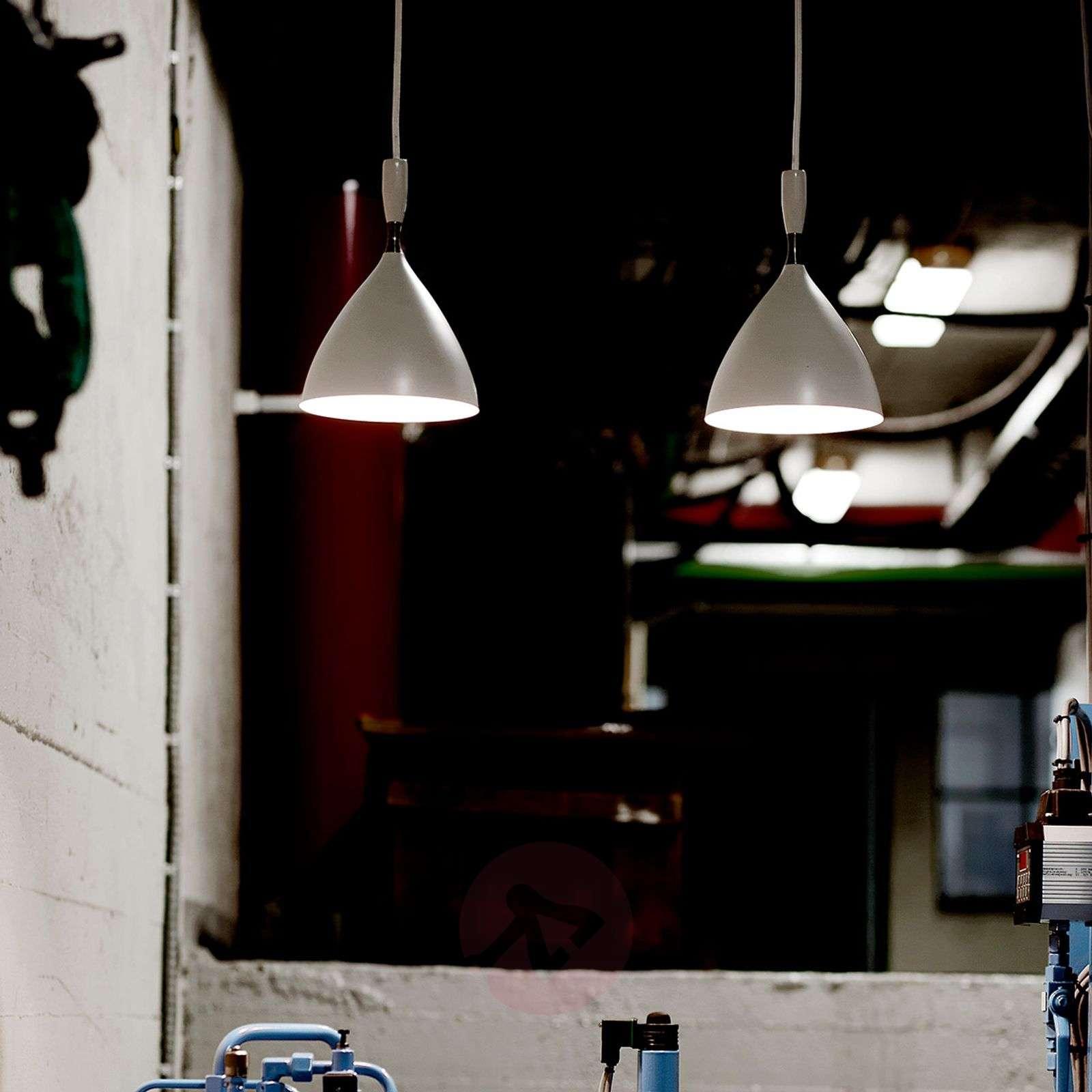 Retroriippuvalaisin Dokka terästä, valkoinen-7013059-01