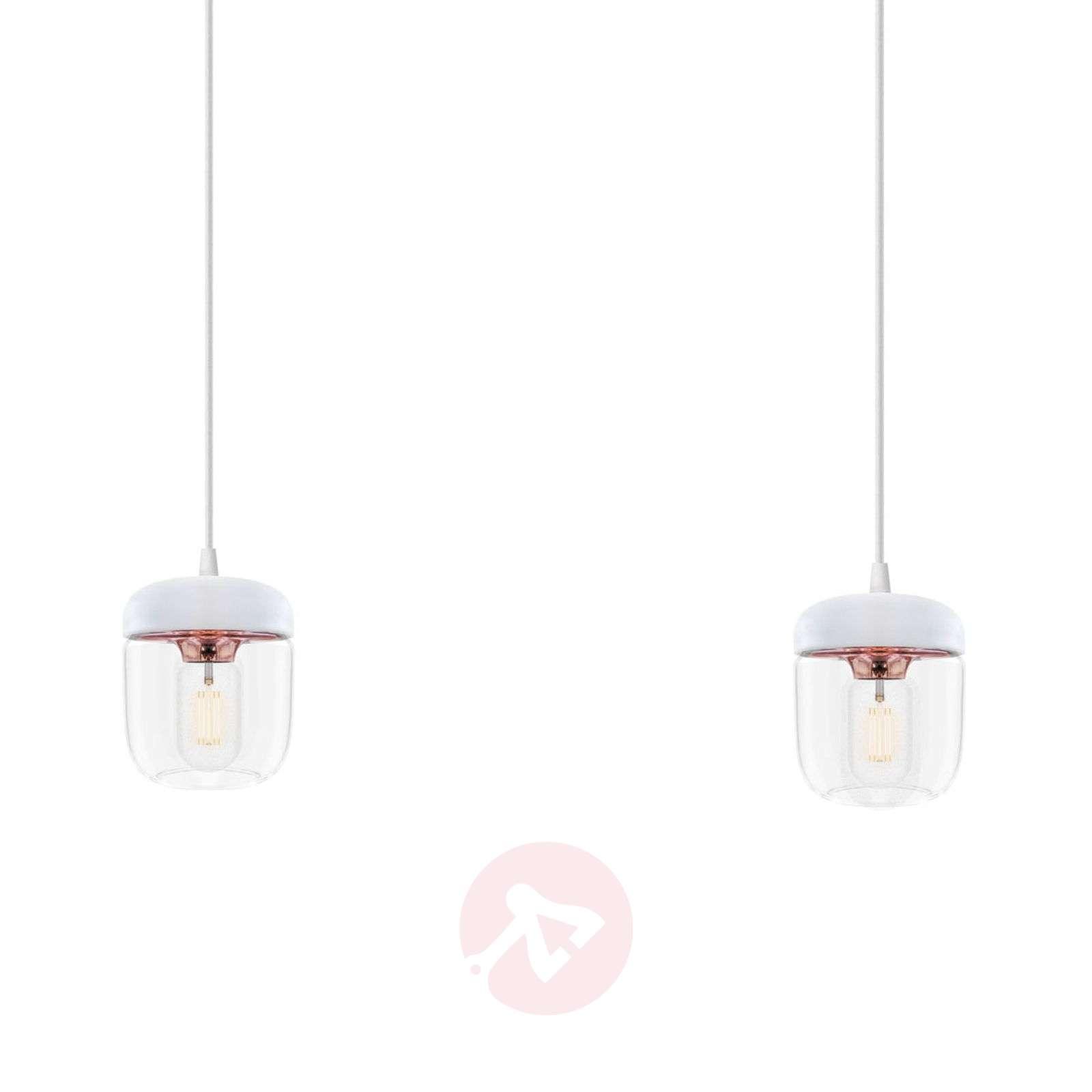 Riippuvalaisin Acorn, 2lamppua, valkoinen, kupari-9521086-01