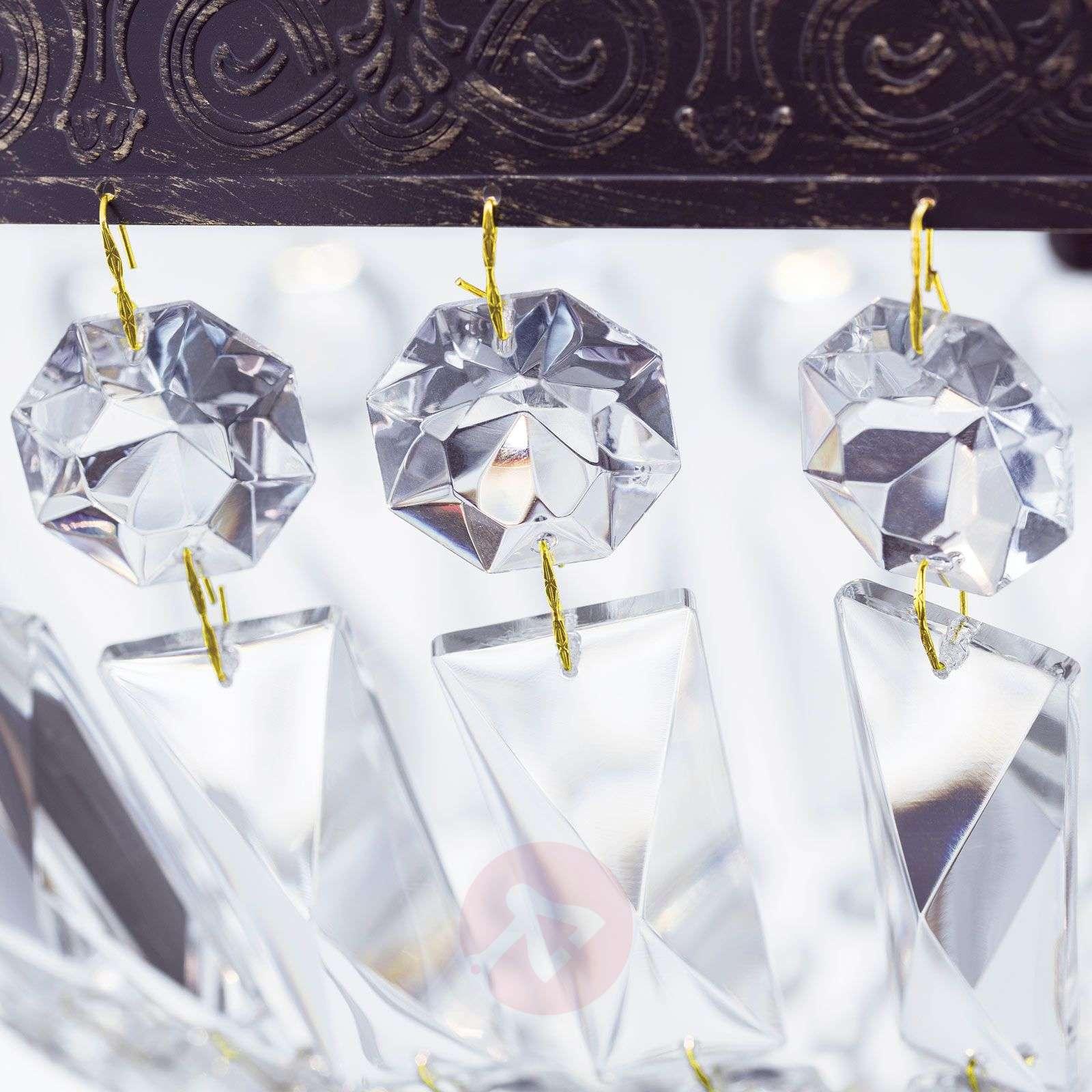 Riippuvalaisin Andara, kristalliketjut, Ø 40cm-7253747-01