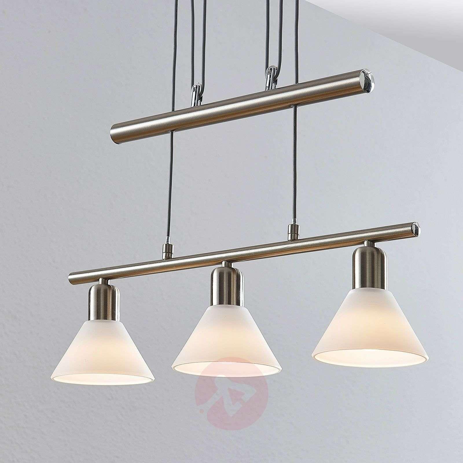 Riippuvalaisin Delira 3-lamppuinen nikkeli-9624694-01