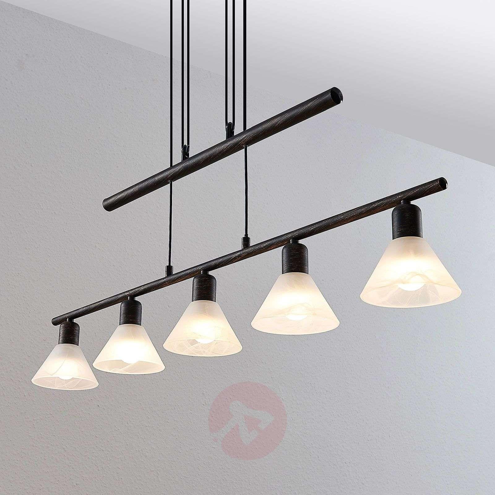 Riippuvalaisin Delira 5-lamppuinen musta-9624697-01