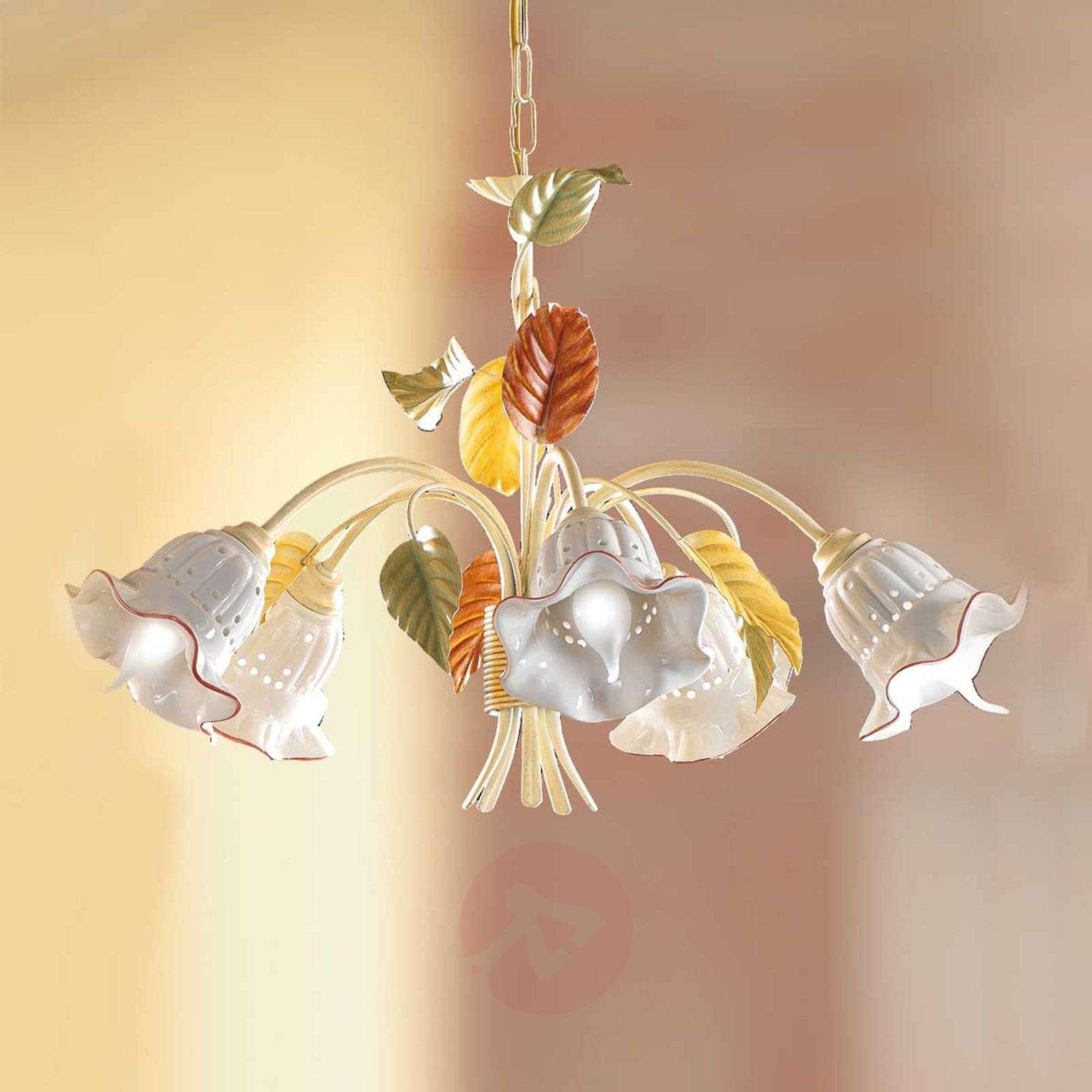 Riippuvalaisin Flora, firenzeläistyyli, 5 lamppua-2013072-01