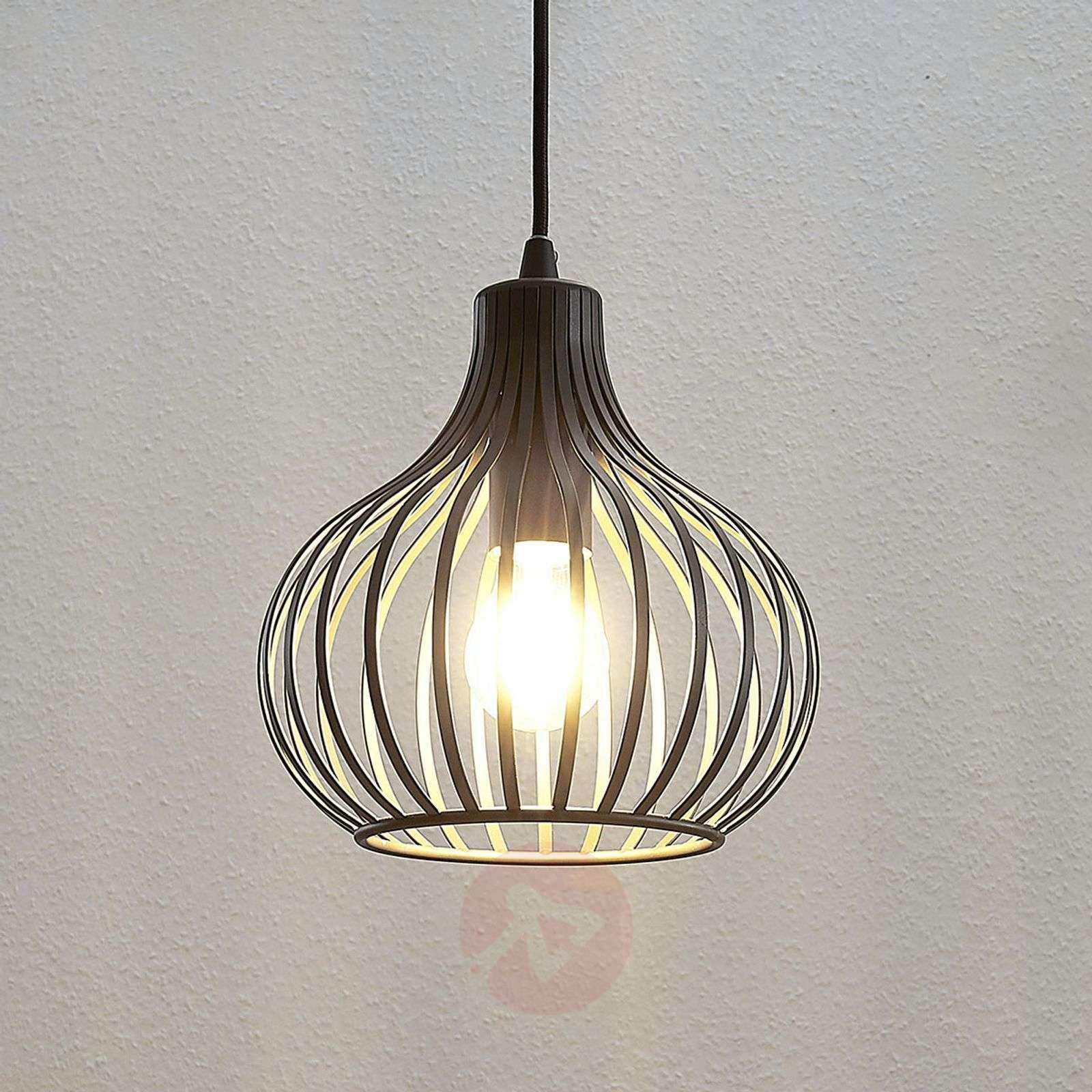 Riippuvalaisin Frances, ruskea, 1-lamppuinen 23 cm-9624133-01
