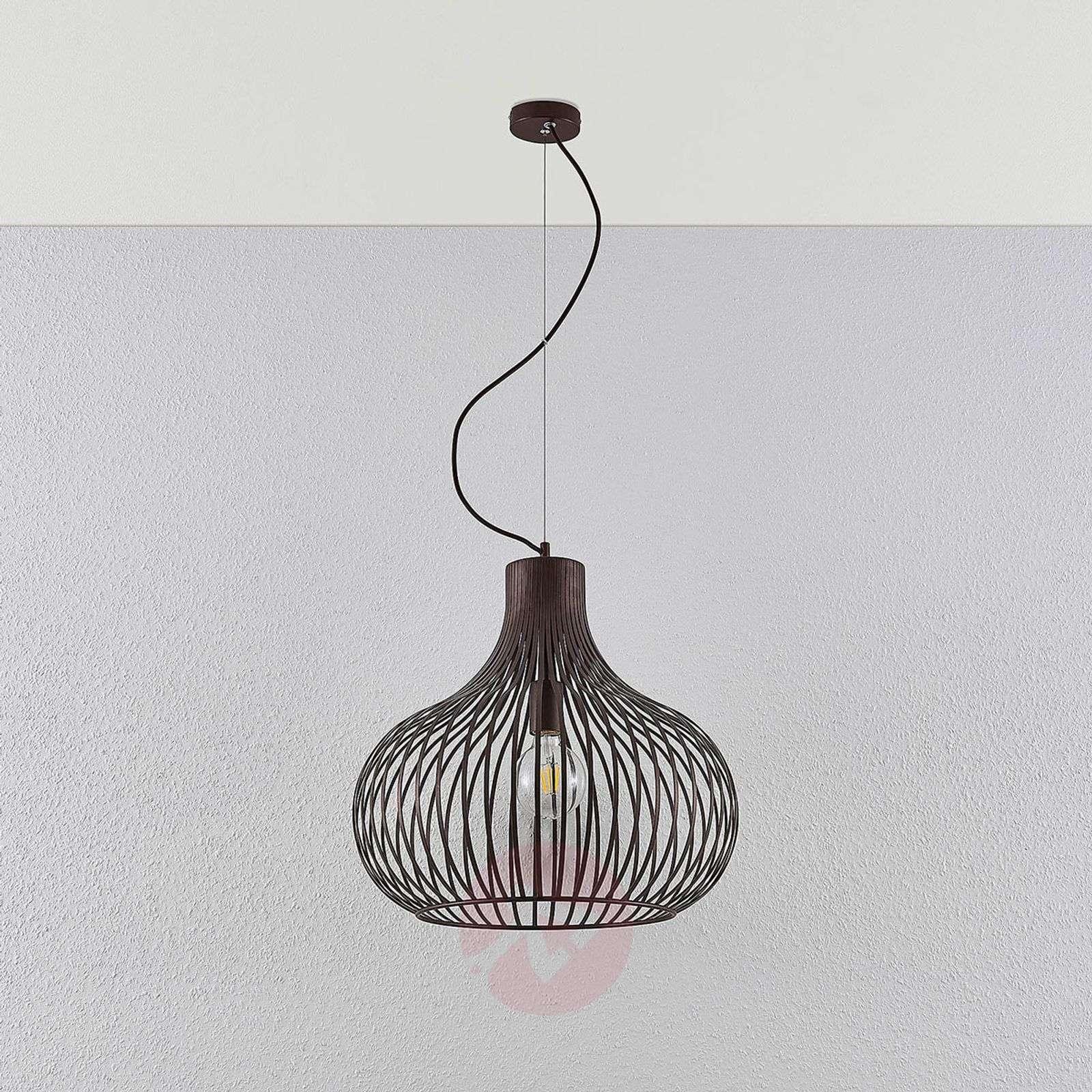Riippuvalaisin Frances, ruskea, 1-lamppuinen 48 cm-9624136-01