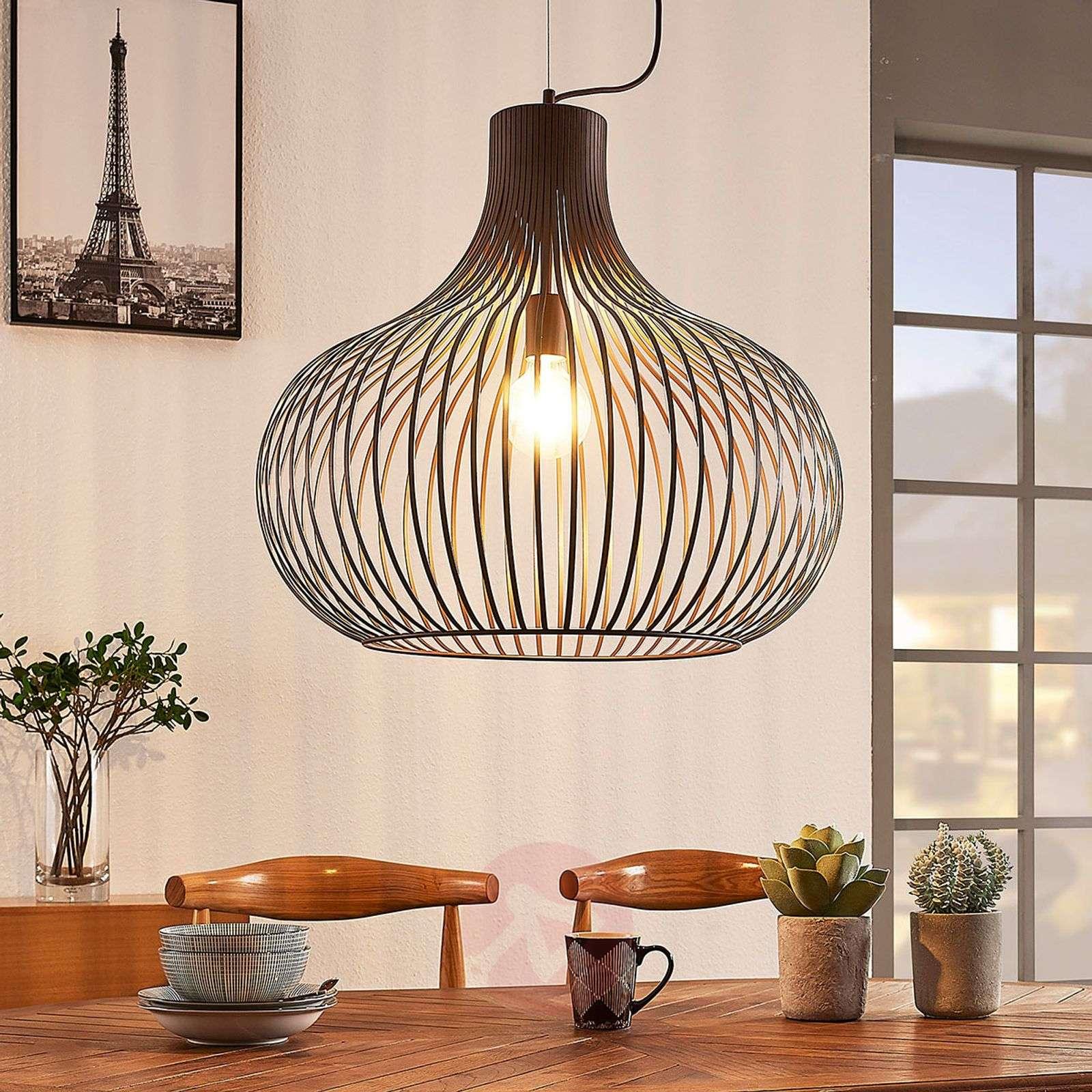 Riippuvalaisin Frances, ruskea, 1-lamppuinen 60 cm-9624137-01