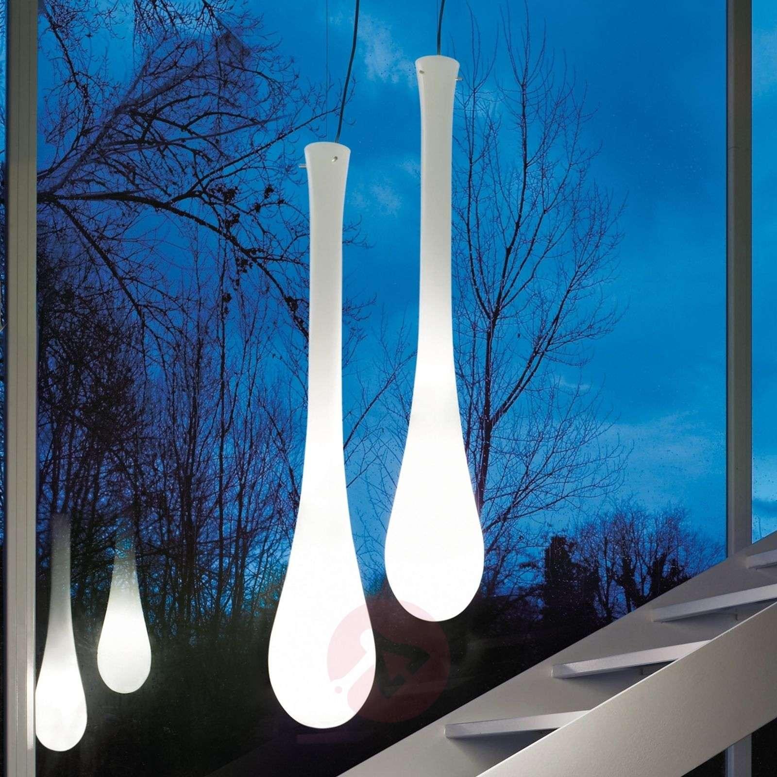 Riippuvalaisin Lacrima lasia, Ø 25 cm, valkoinen-9508073-01