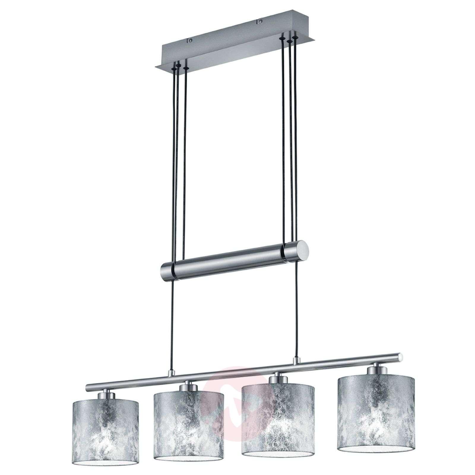 Riippuvalo Garda 4 lamppua muovivarjostimet hopea-9005271-01