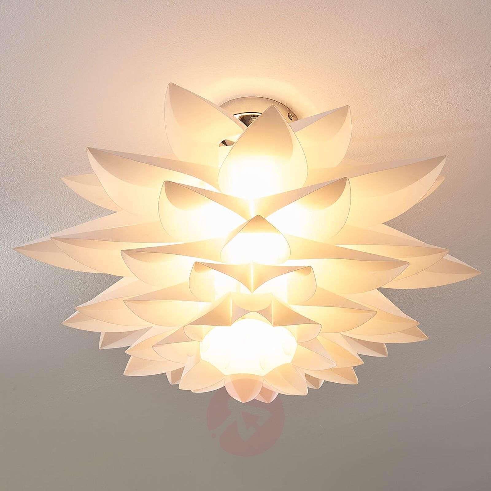 Rimon kukkamainen kattovalaisin, valkoinen-9621147-01