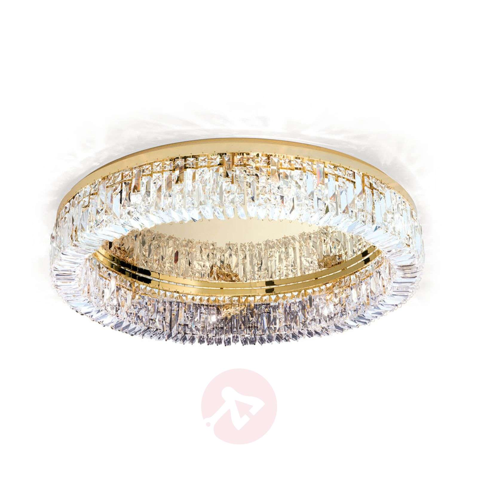 Ring-kristallikattolamppu 24 karaatin kultauksella-7255252X-01