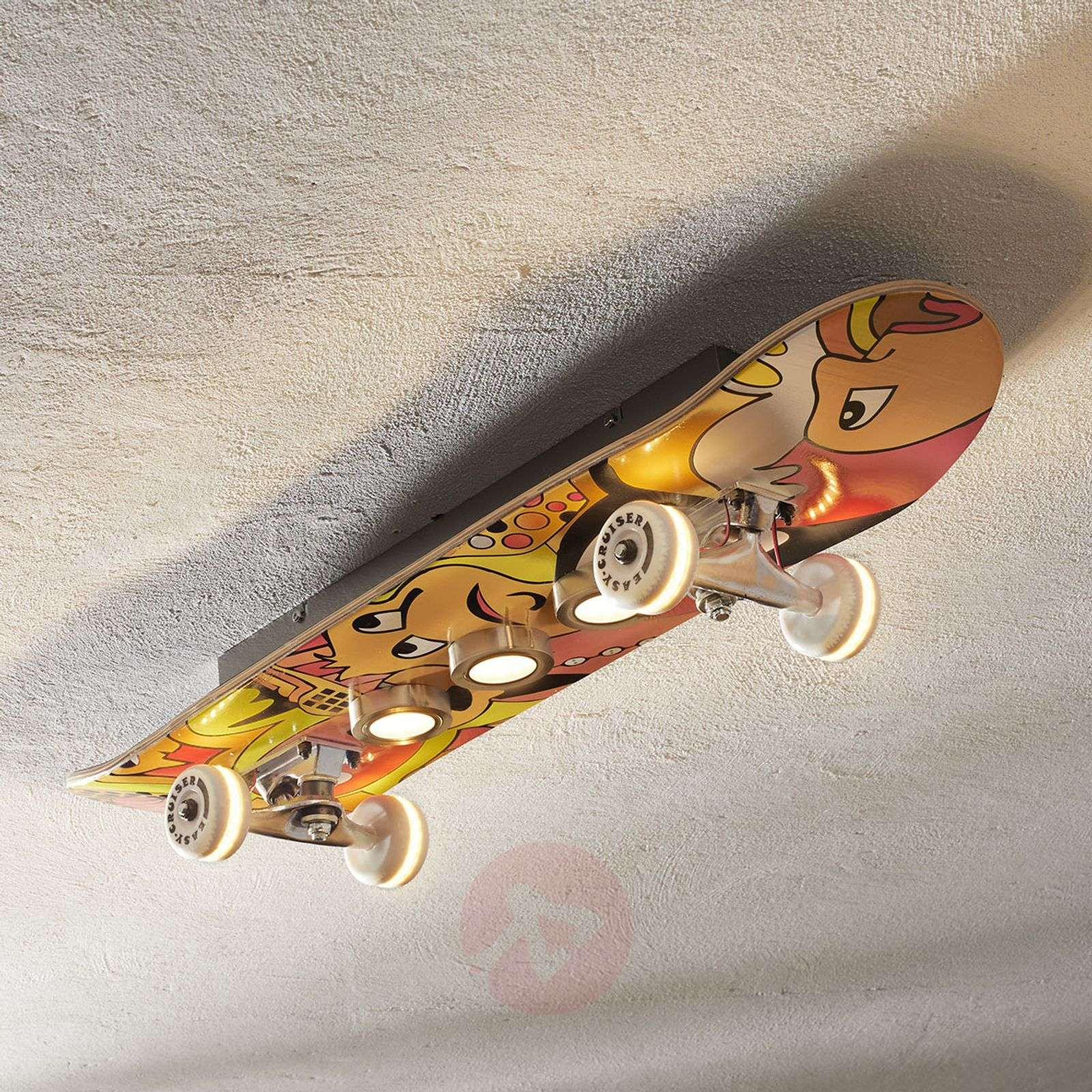 Rullalautamainen Easy Cruiser LED-kattovalaisin-3025316-01