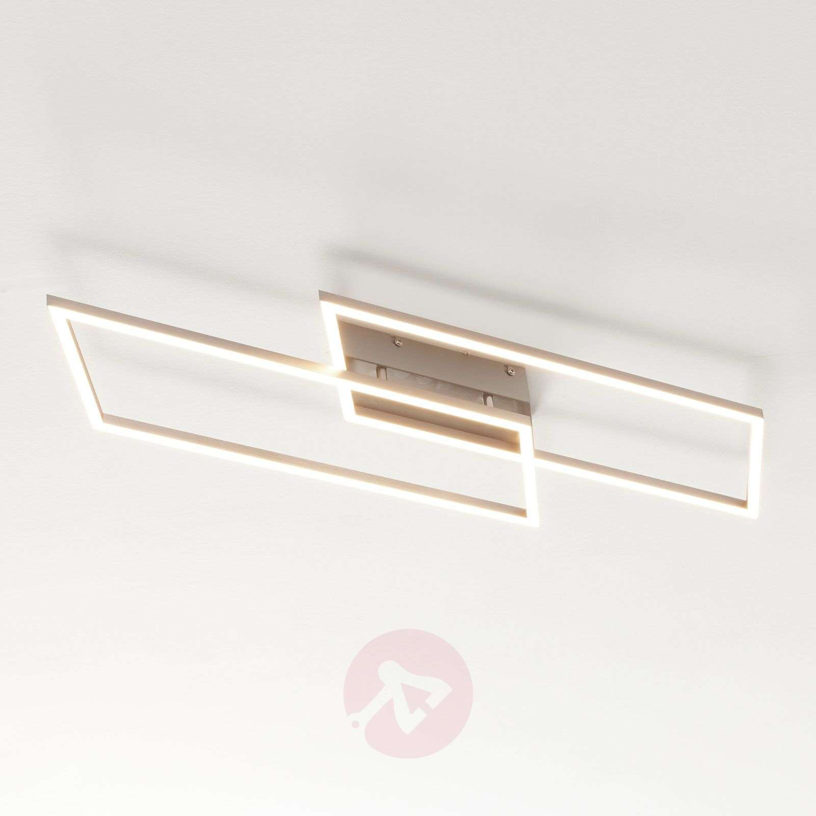 Rungonmuotoinen LED-kattolamppu Quadra, himmennet.-7620079-02