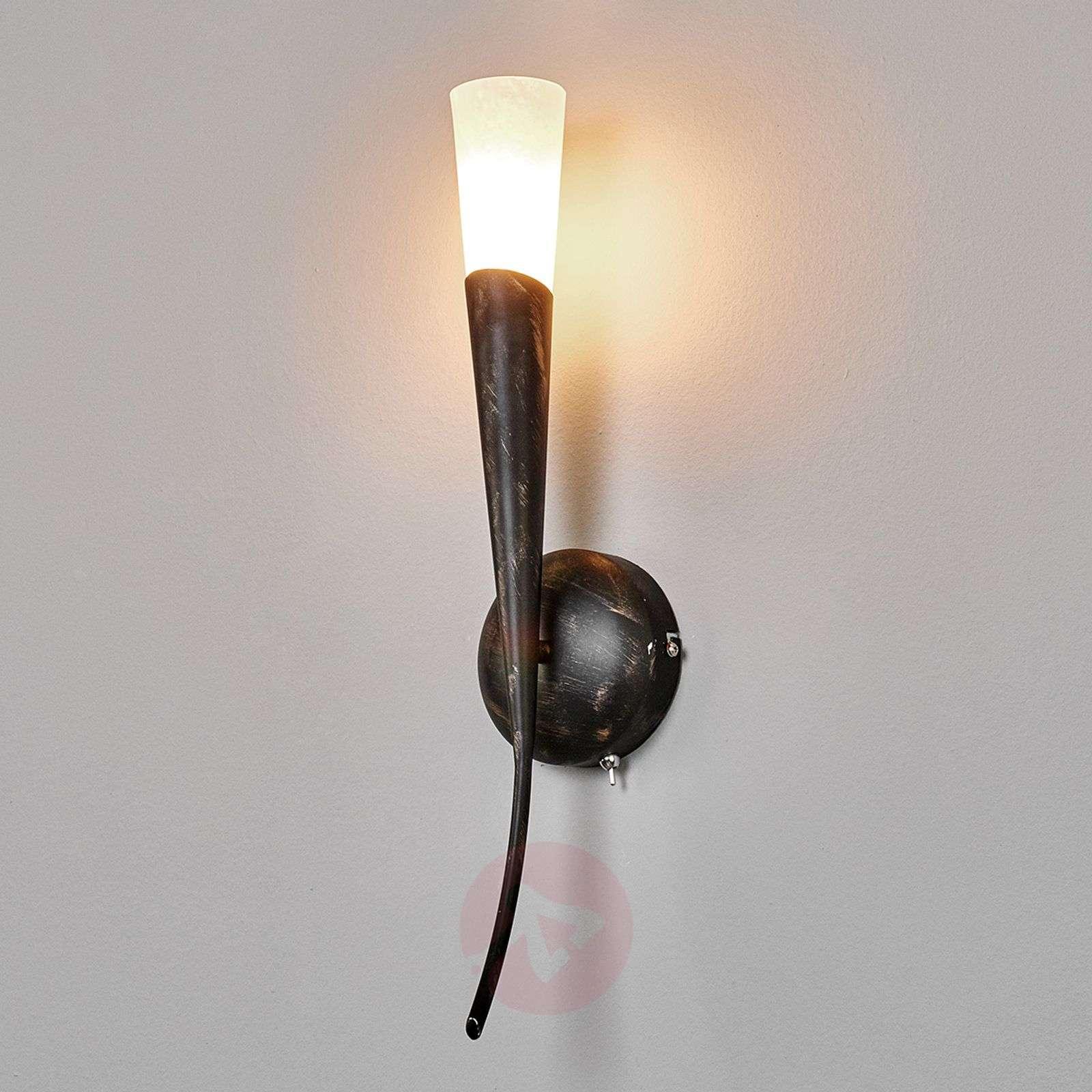 Ruosteenruskea LED-seinävalaisin Sander, soihtu-9620139-01