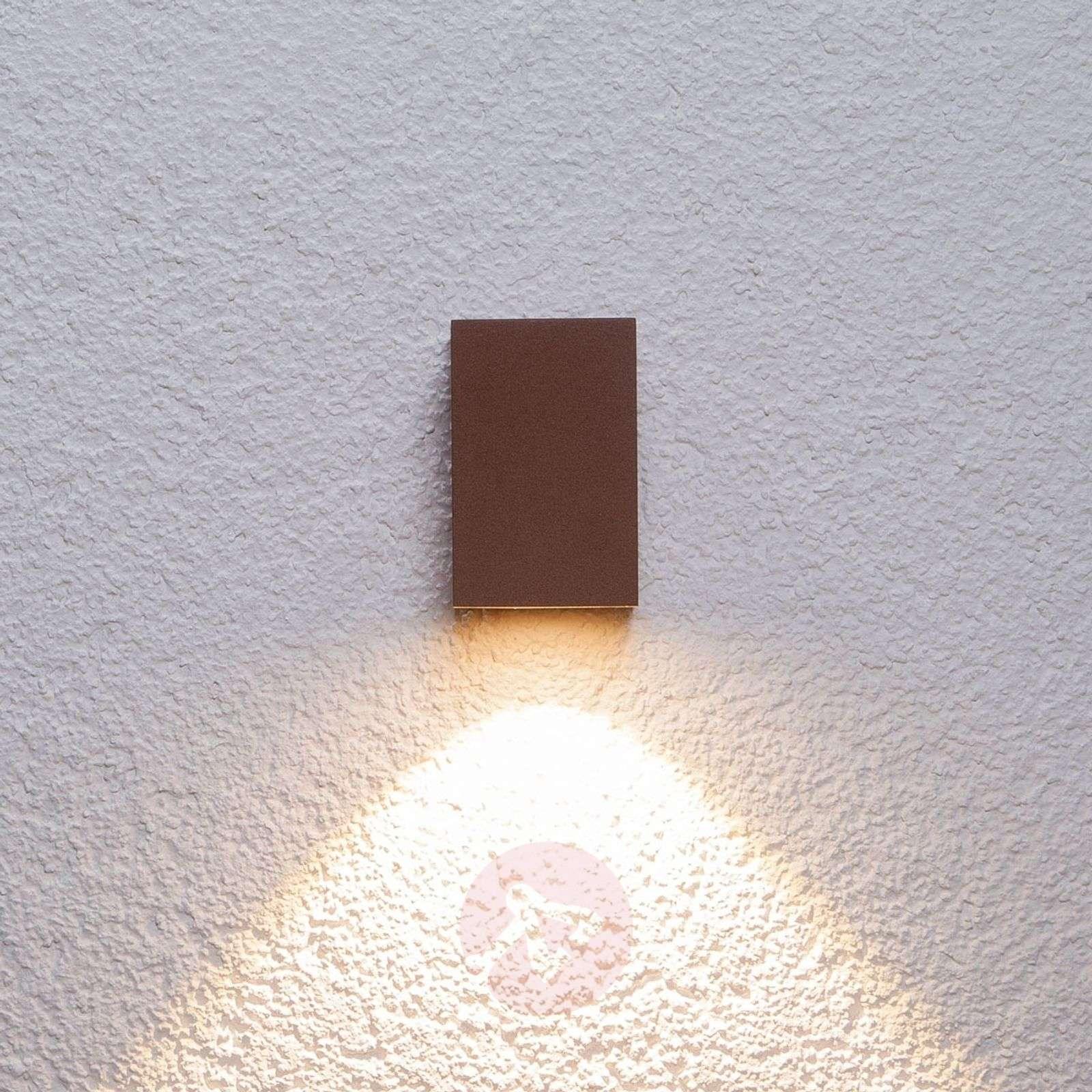 Ruosteenruskea LED-ulkoseinävalaisin Tavi, 9,5cm-9616015-01