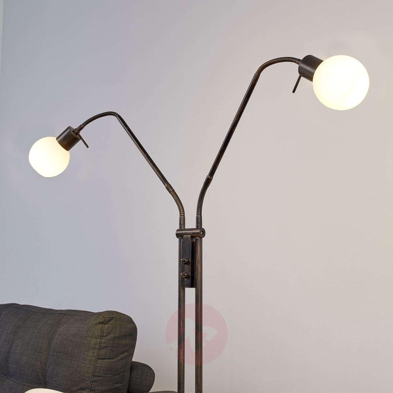 Ruosteenvärinen LED-lattiavalaisin Elaina-9620016-01