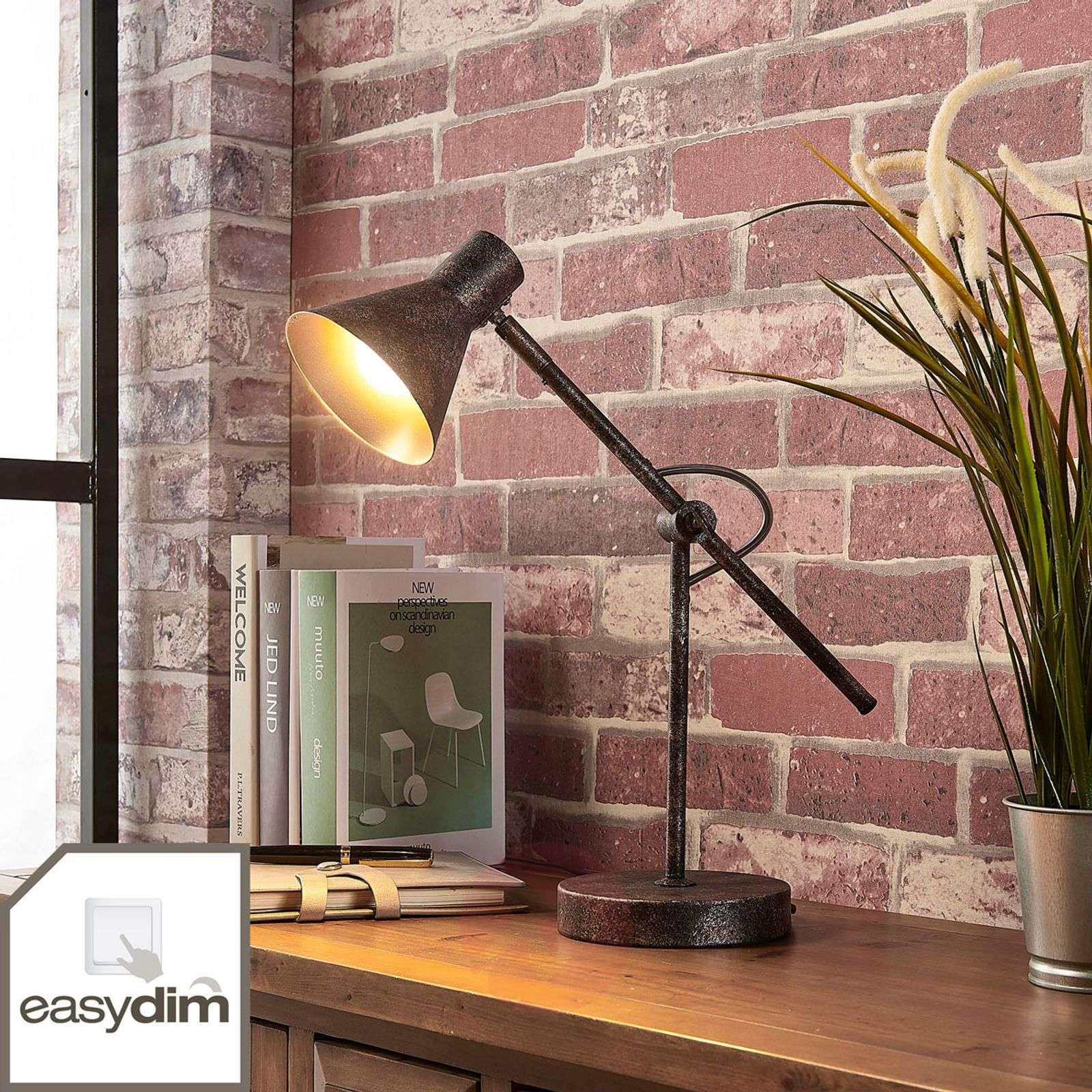 Ruosteenvärinen LED-pöytävalaisin Zera, easydim-9621544-02