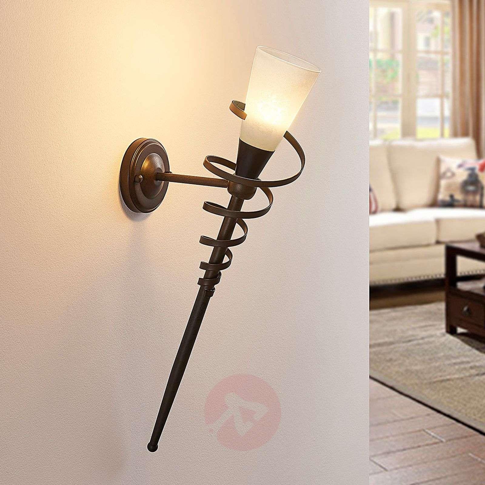 Ruosteenvärinen LED-seinäsoihtu Tjark-9620147-01