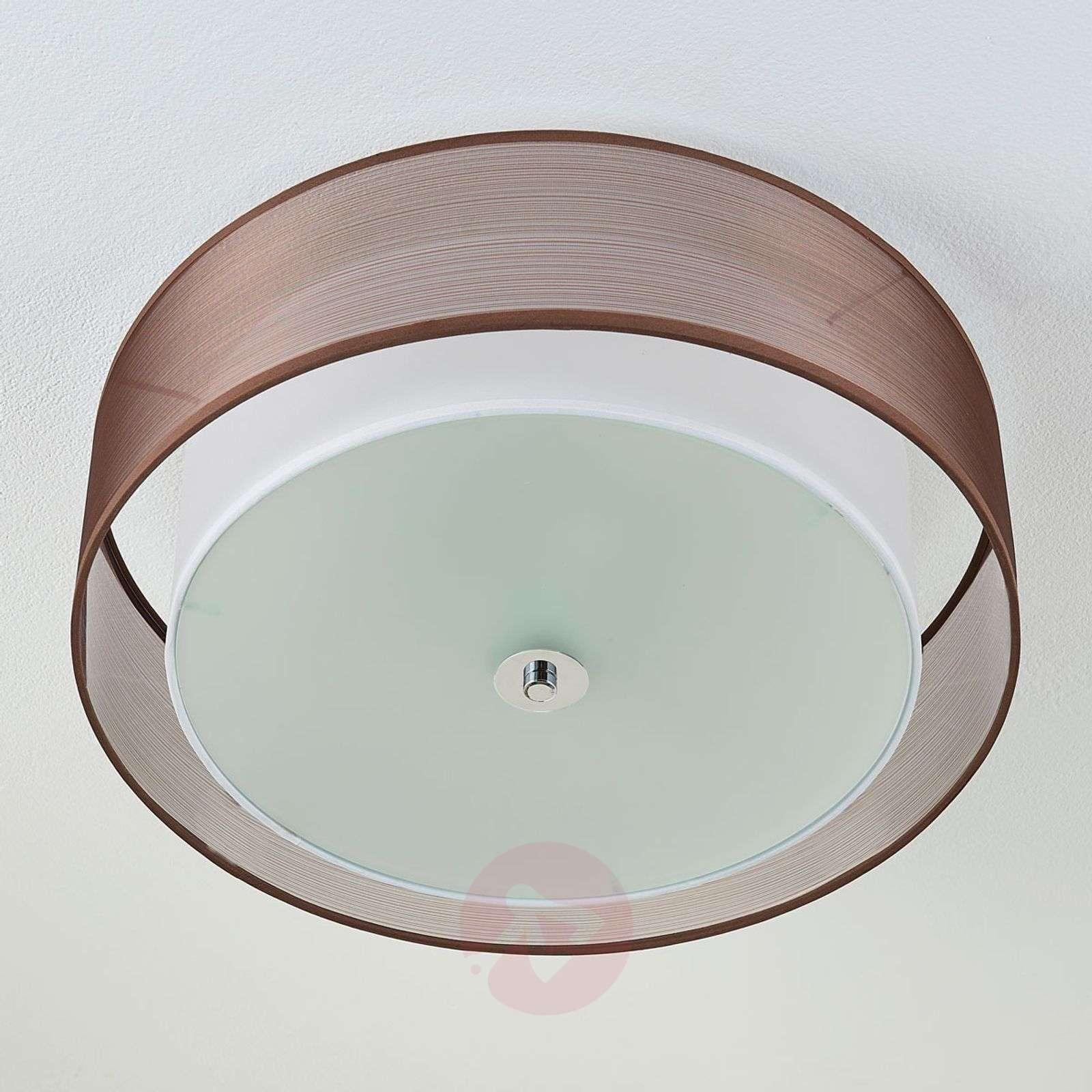 Ruskea LED-kangaskattovalaisin Tobia, easydim-9621291-02