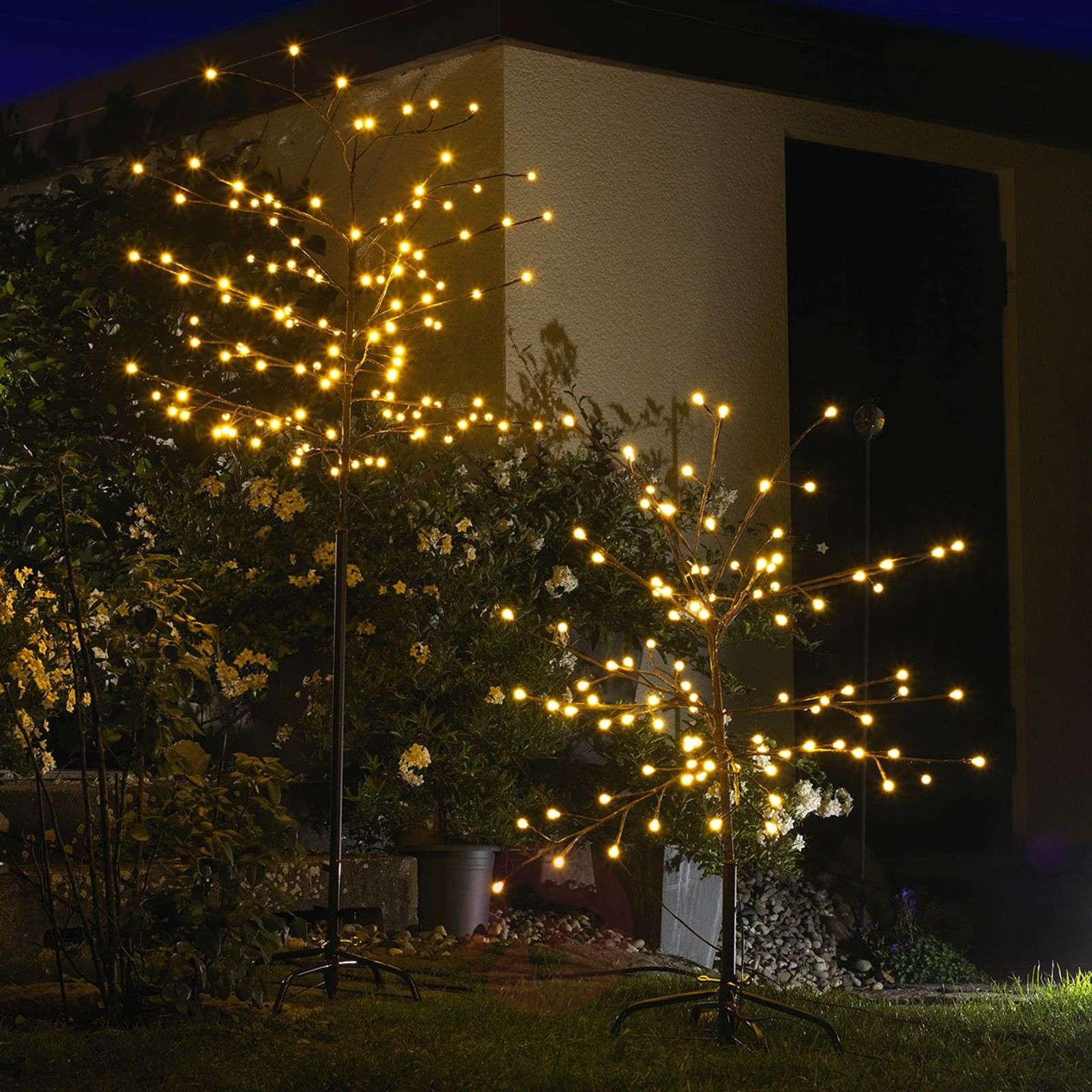 Ruskea LED-ulkovalopuu, 100cm, 96-lamppuinen-5524463-01