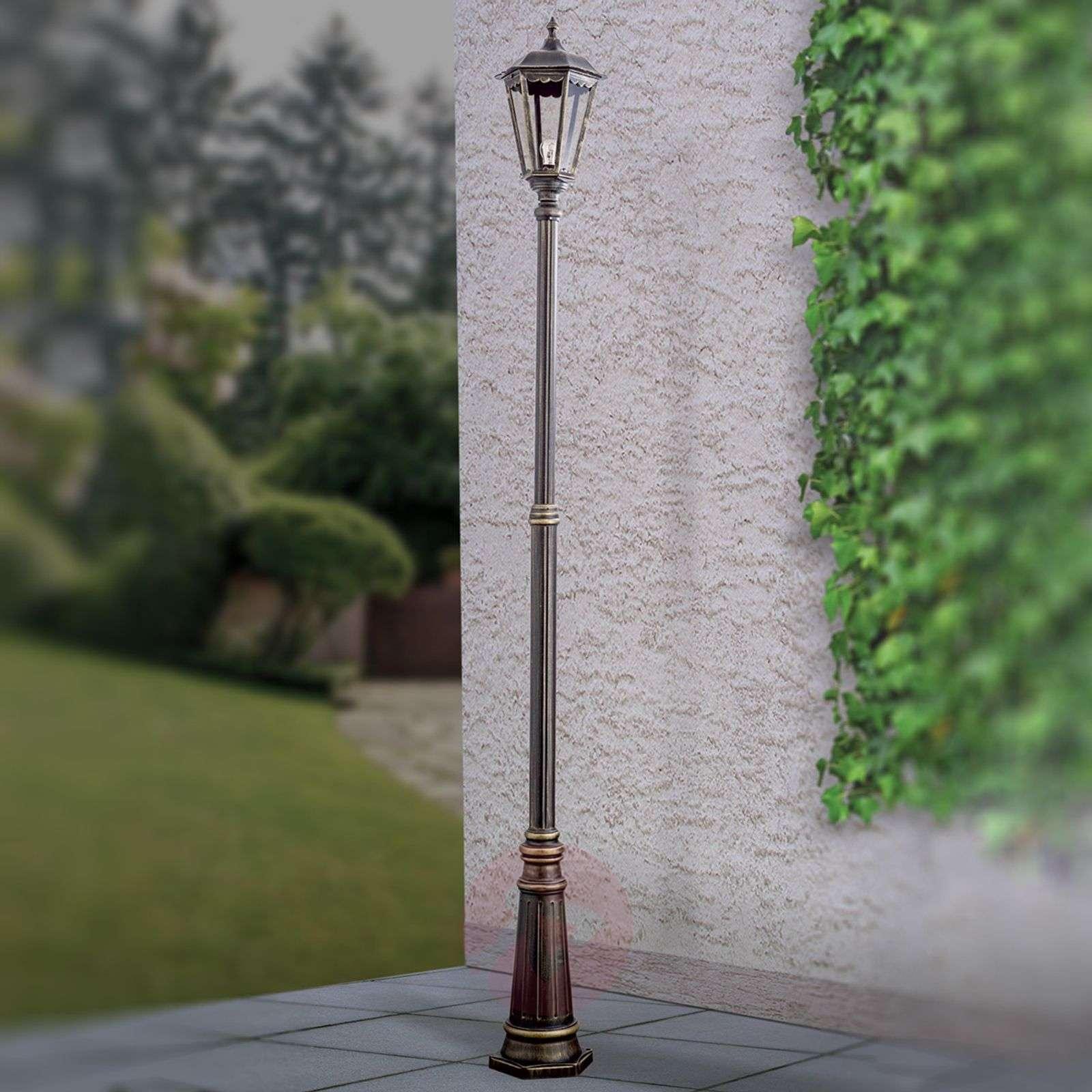Ruskea lyhtypylväs Fabio, 1-lamppuinen 211cm