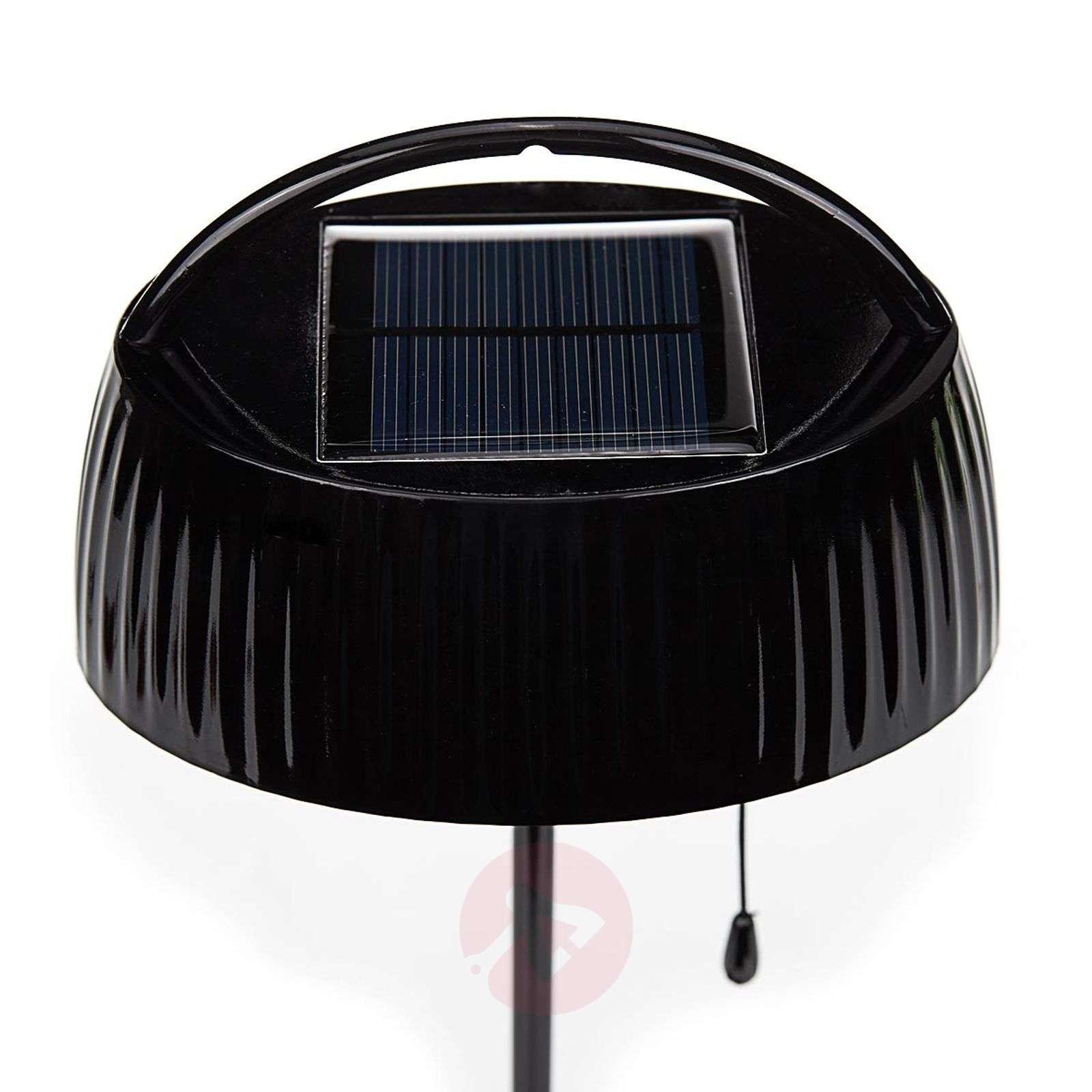 Ruskea solarpöytävalaisin LEDTara vetokytkimellä-7000696-01