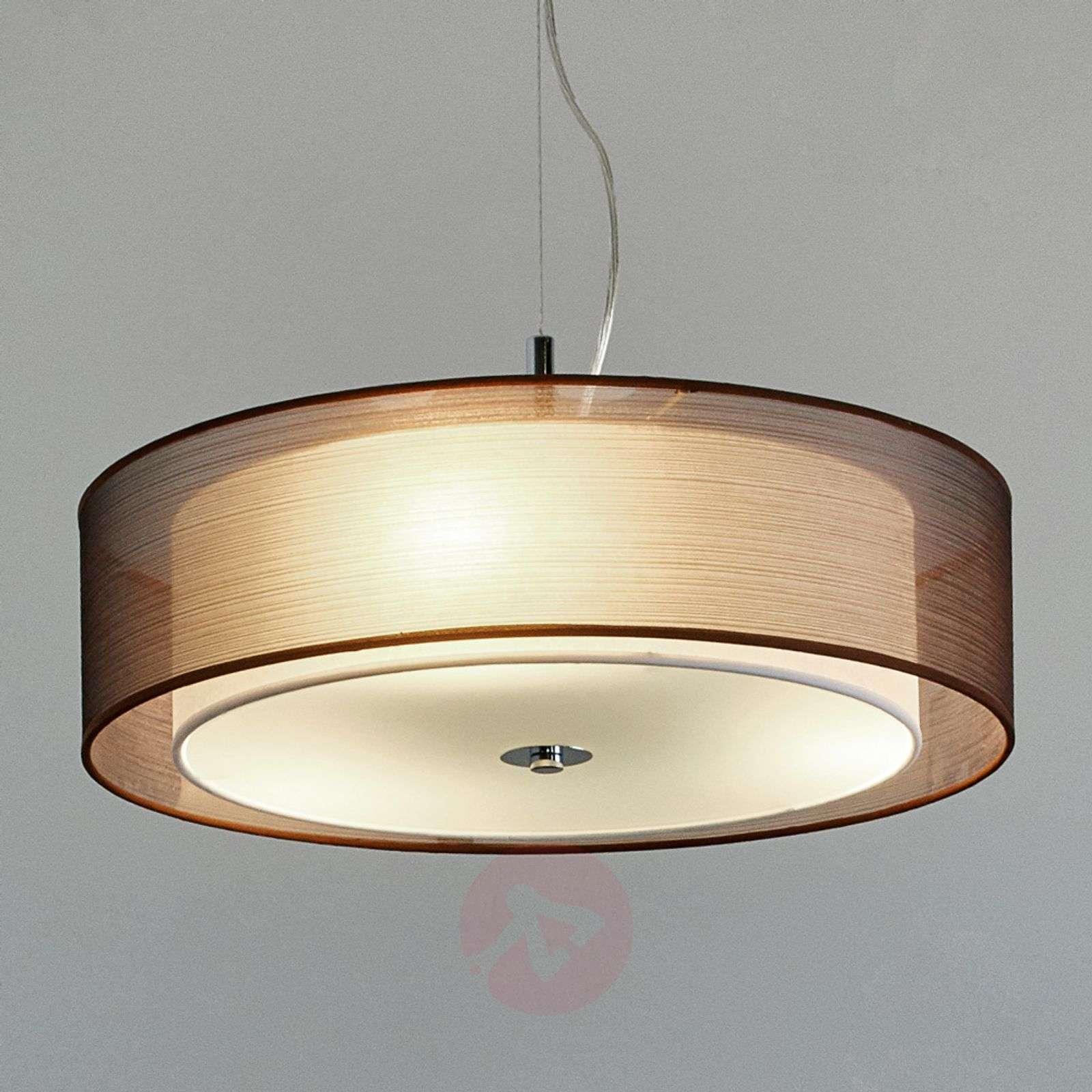Ruskea tekstiiliriippuvalaisin Pikka, E27-LED:t-9620170-01