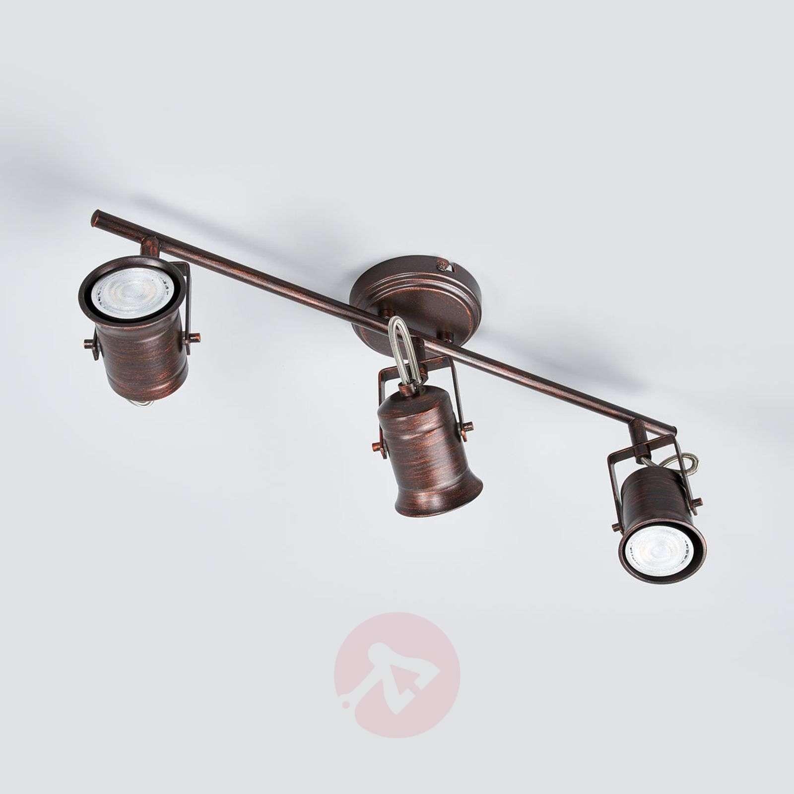 Rustiikkinen LED-kattolamppu Cansu, ruskea-9639074-09