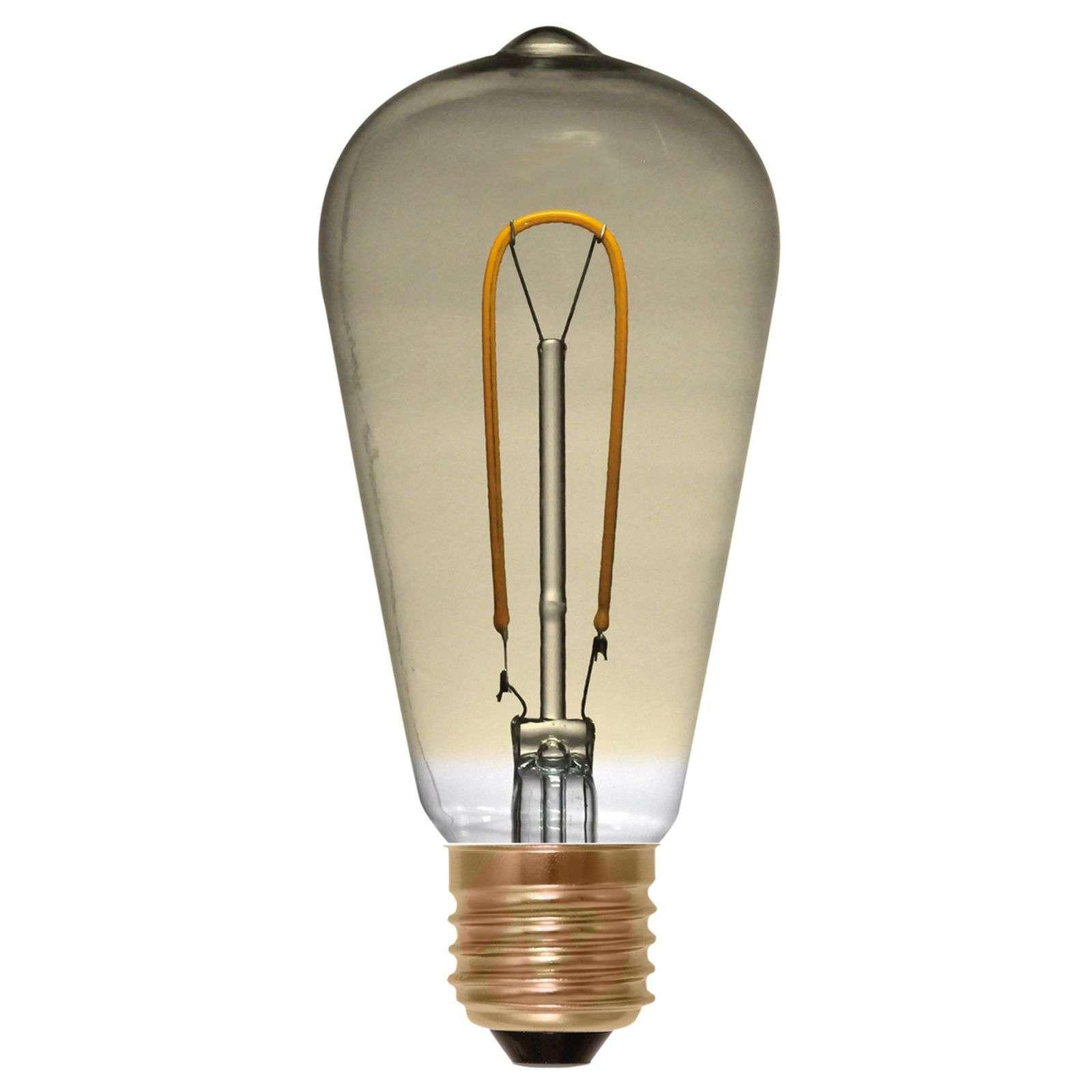 Rustiikkinen LED-lamppu Curved Line E27 2,7W 922-8536164-02