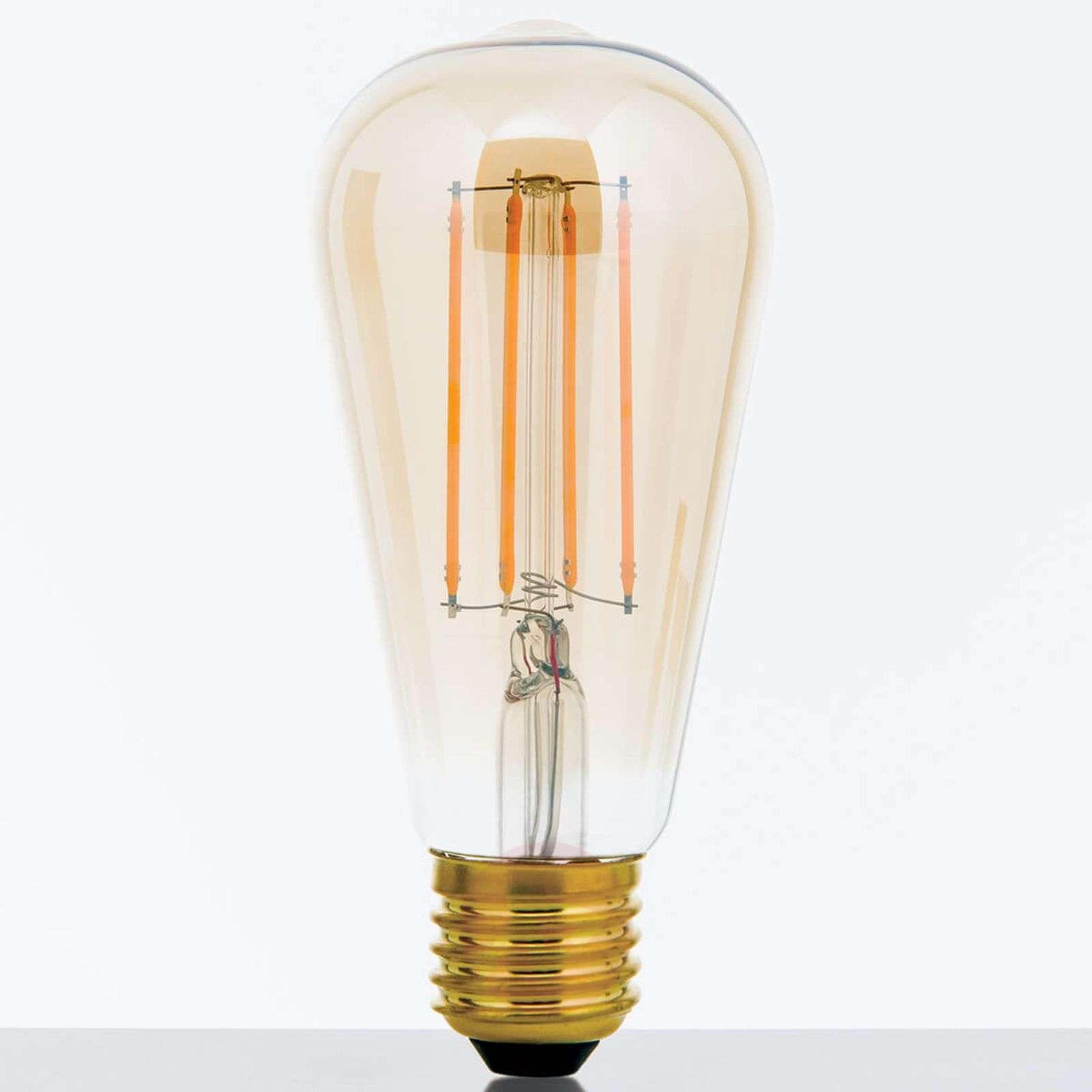 Rustiikkinen LED-lamppu E27 7W, valk., himm.-7255301-01