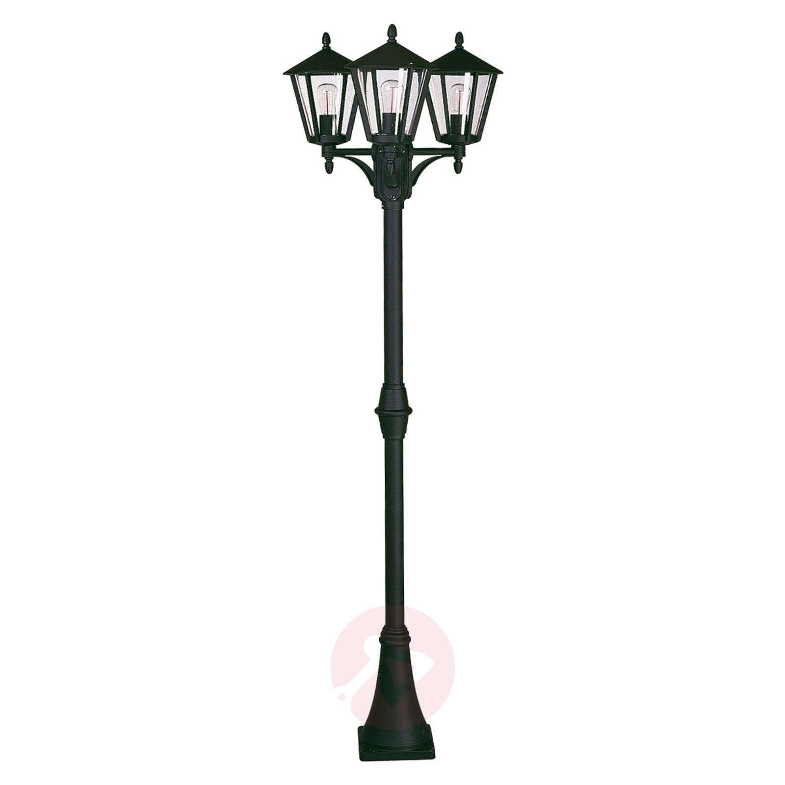 Rustiikkinen lyhtypylväs 680, 3 lamppua-4001680X-01