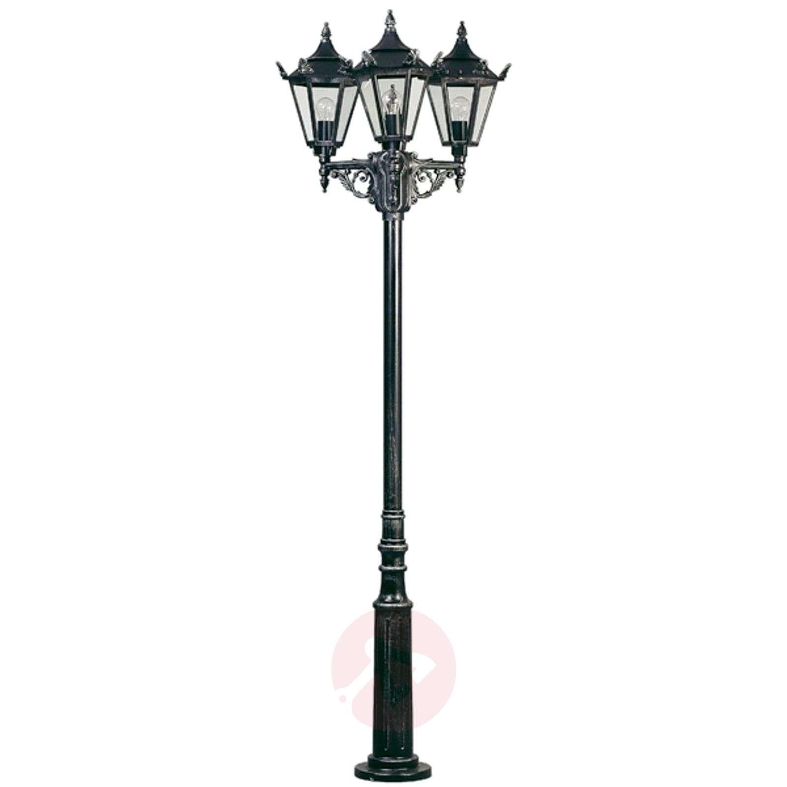 Rustiikkinen lyhtypylväs 756, 3 lamppua-4001756X-01