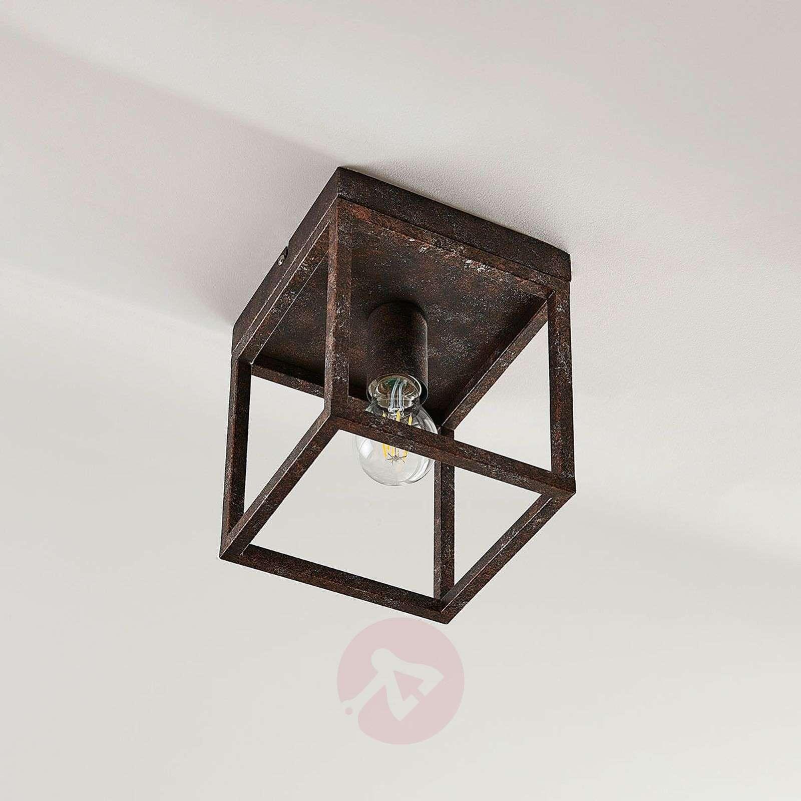 Rustikaalinen kattovalaisin Emin metallikehyksellä-9621503-02