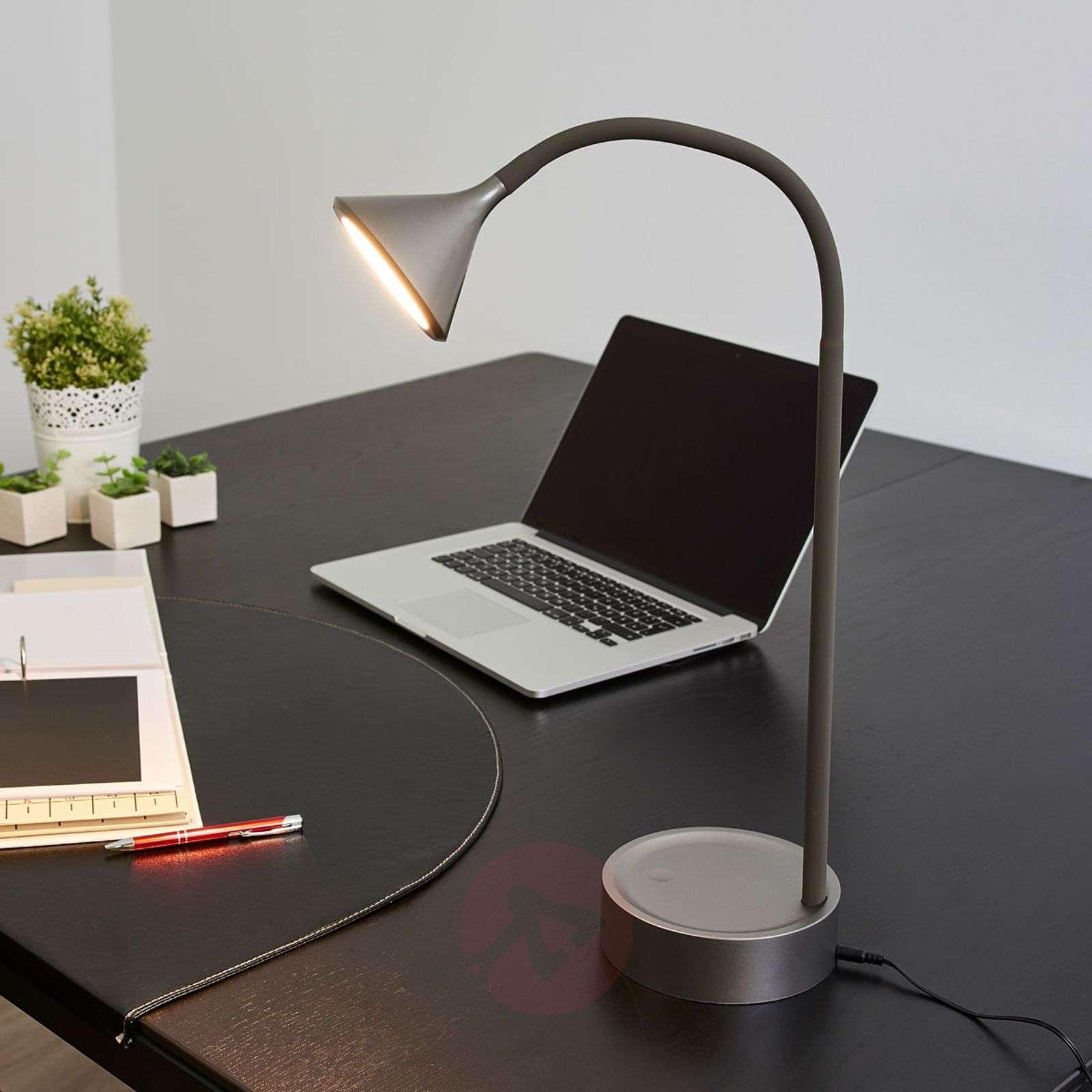Säädettävä Ellister-pöytävalaisin LED, USB-portti-9643041-02
