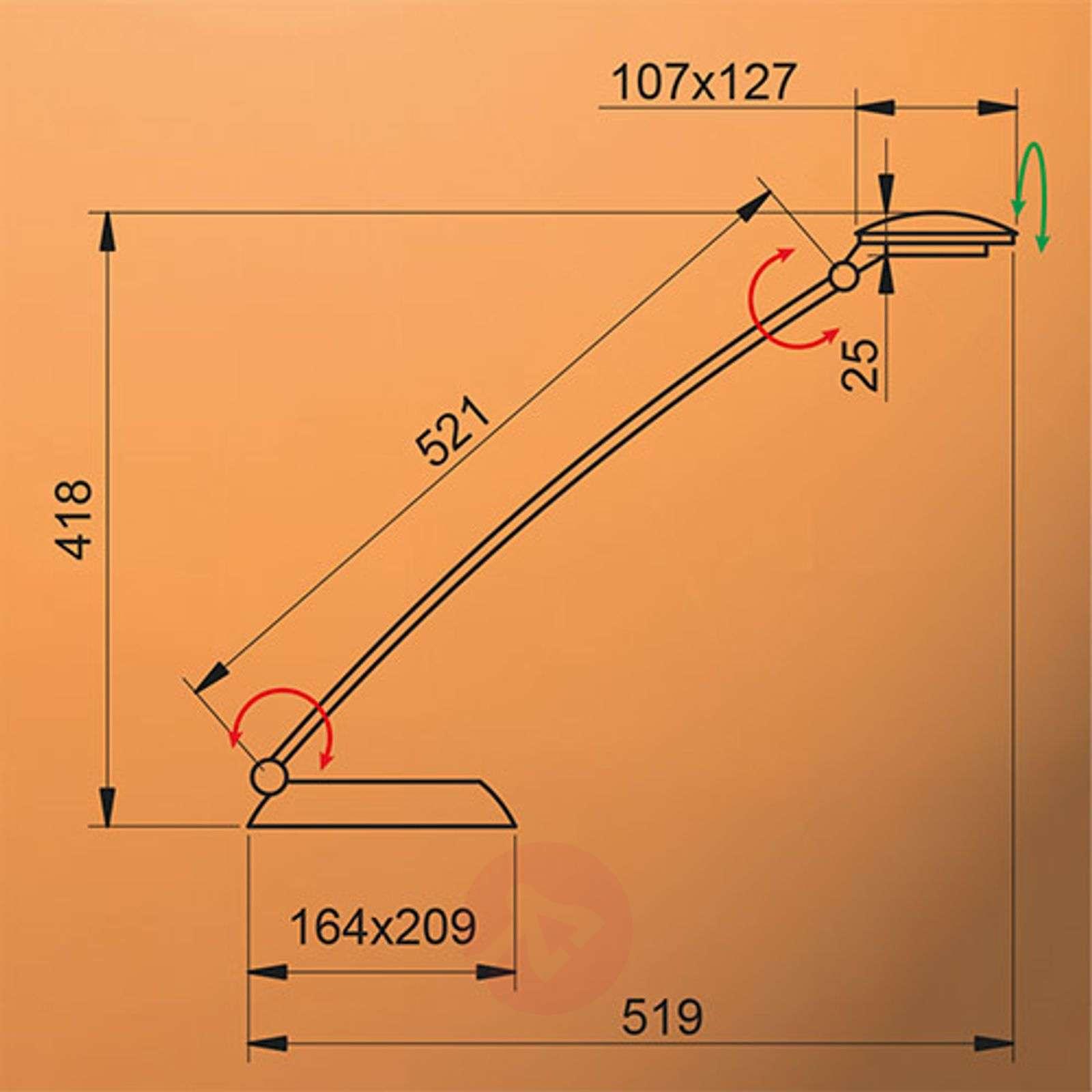 Säädettävä LED-pöytävalaisin Forever, 8W-1065006-01