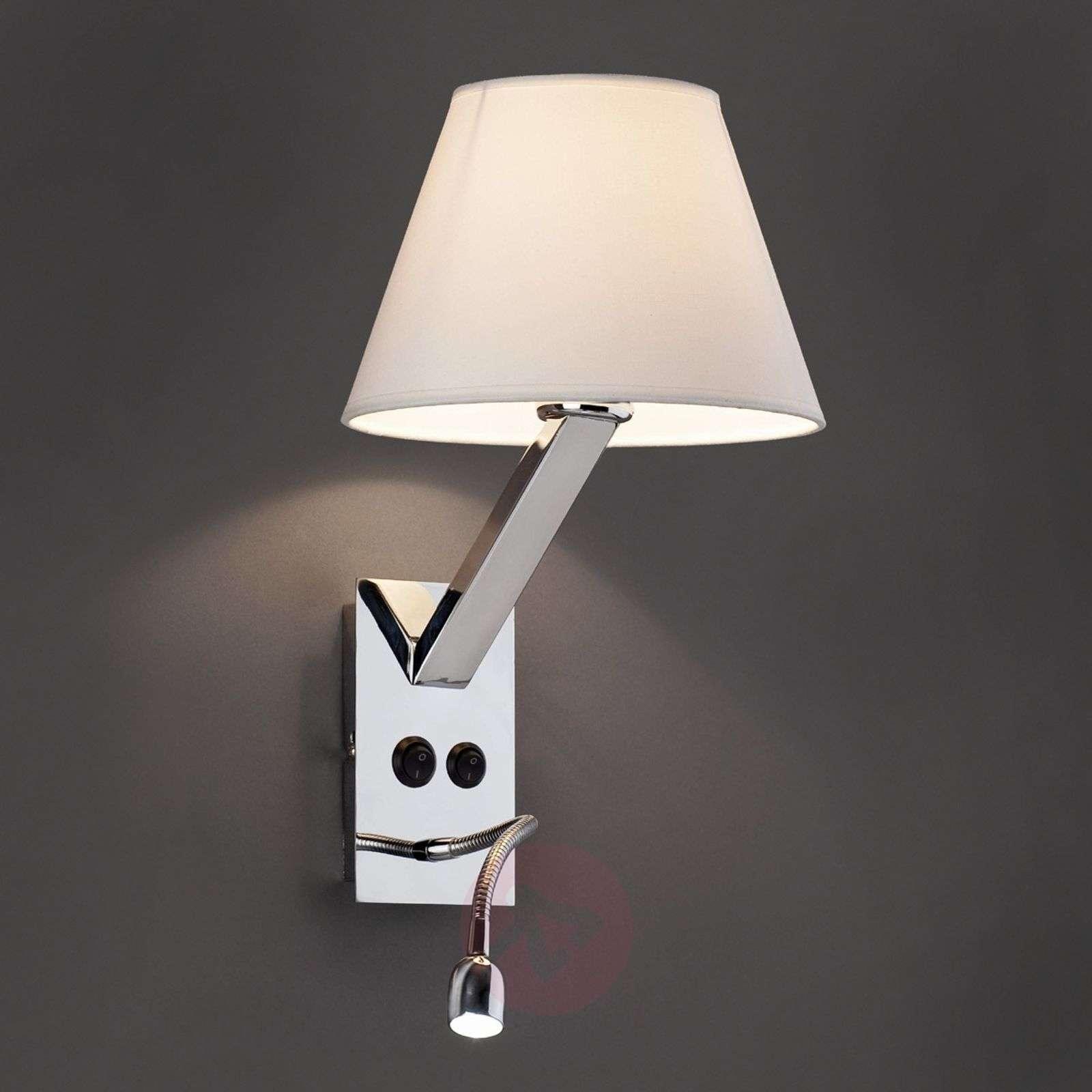 Säädettävä Moma 2-seinävalaisin LED-/lukulampulla-3507027X-01