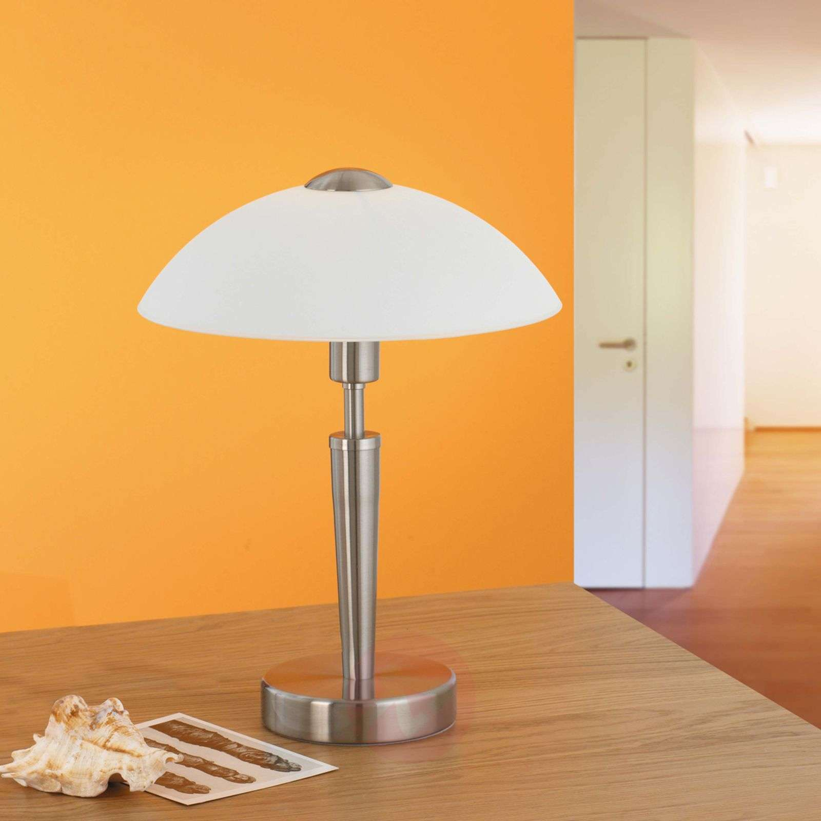 Salut-yöpöytävalaisin, nikkeli, valkoinen-3001579-01