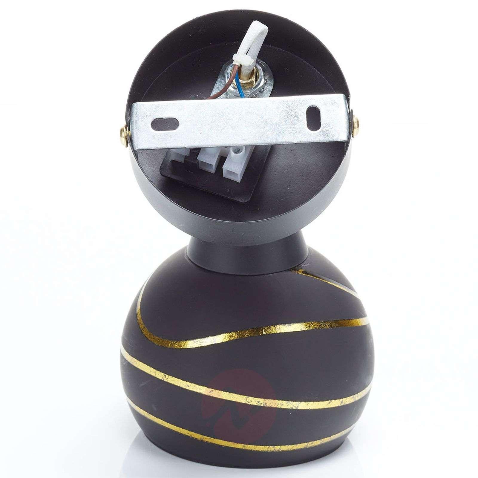 Seinäkohdevalaisin Lynette, musta-kulta, 1-lamp.-4018197-02