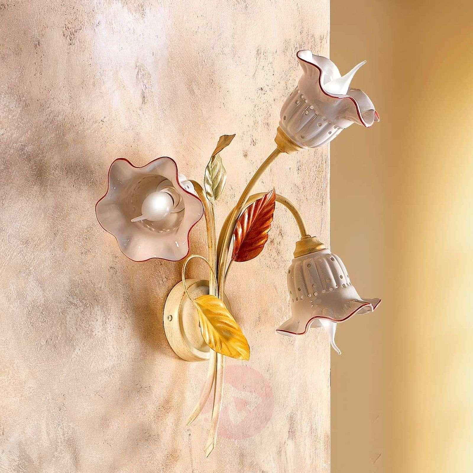 Seinävalaisin Flora, firenzeläistyyli, 3 lamppua-2013073-01