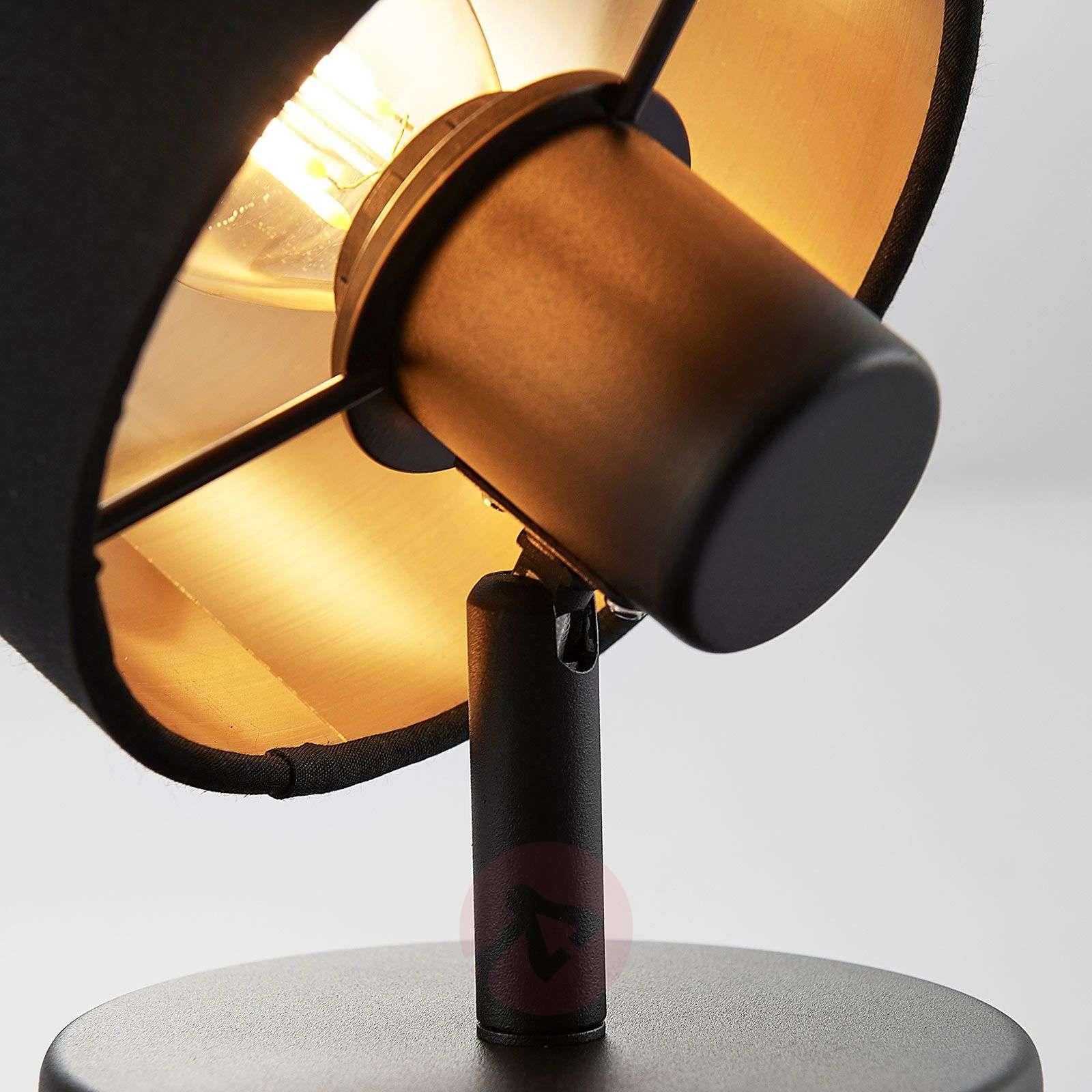 Seinävalaisin Vasilia, musta ja kulta 1-lamppuinen-8032155-02