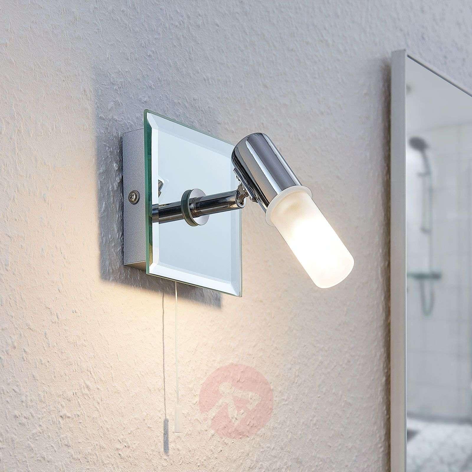 Seinävalaisin Zela, kylpyhuonelamppu, vetokytkin-9624383-02